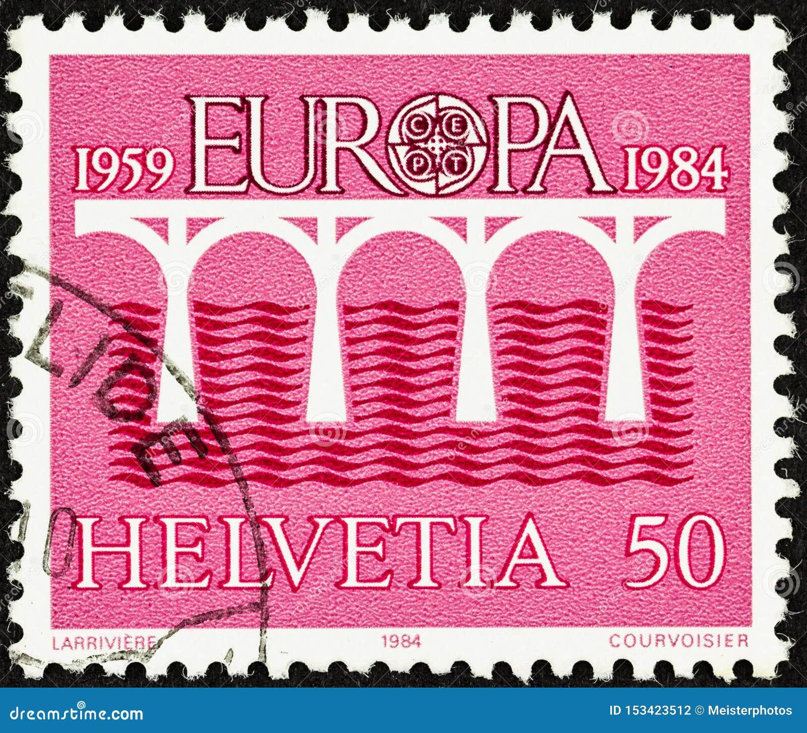 1984瑞士的桃红色欧罗巴邮票