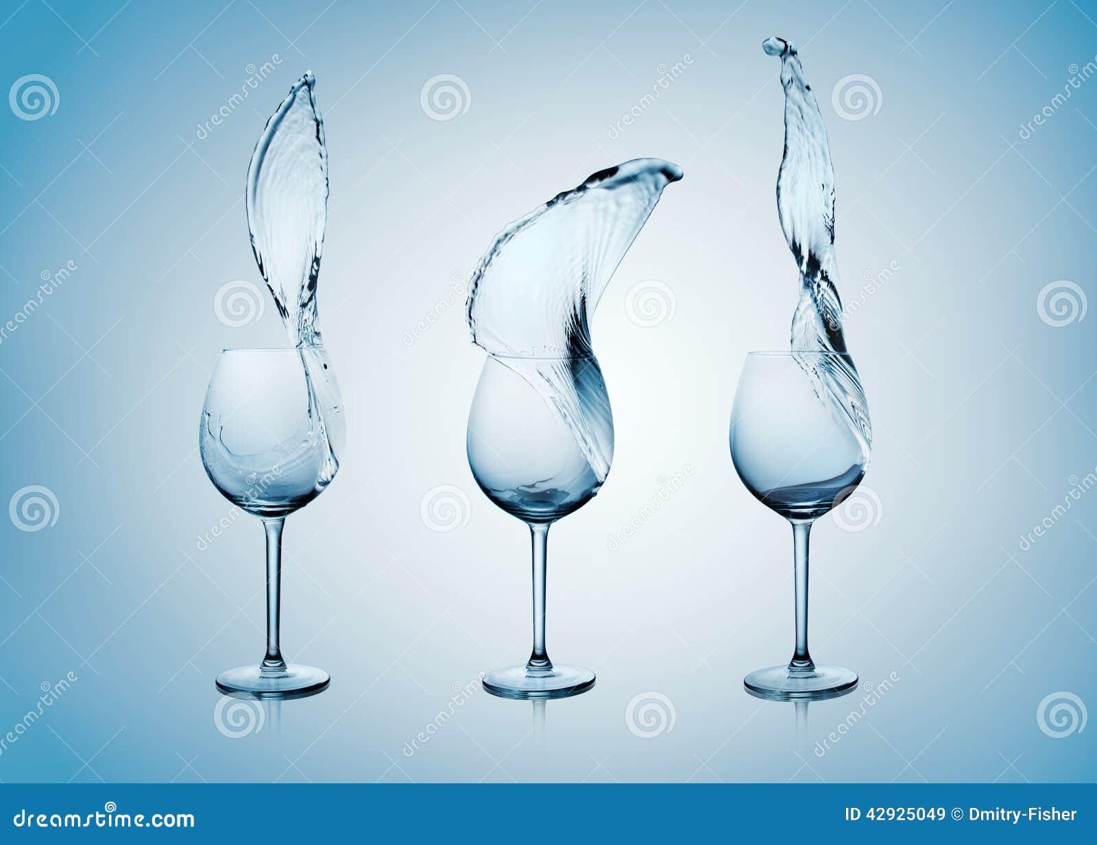玻璃飞溅水酒