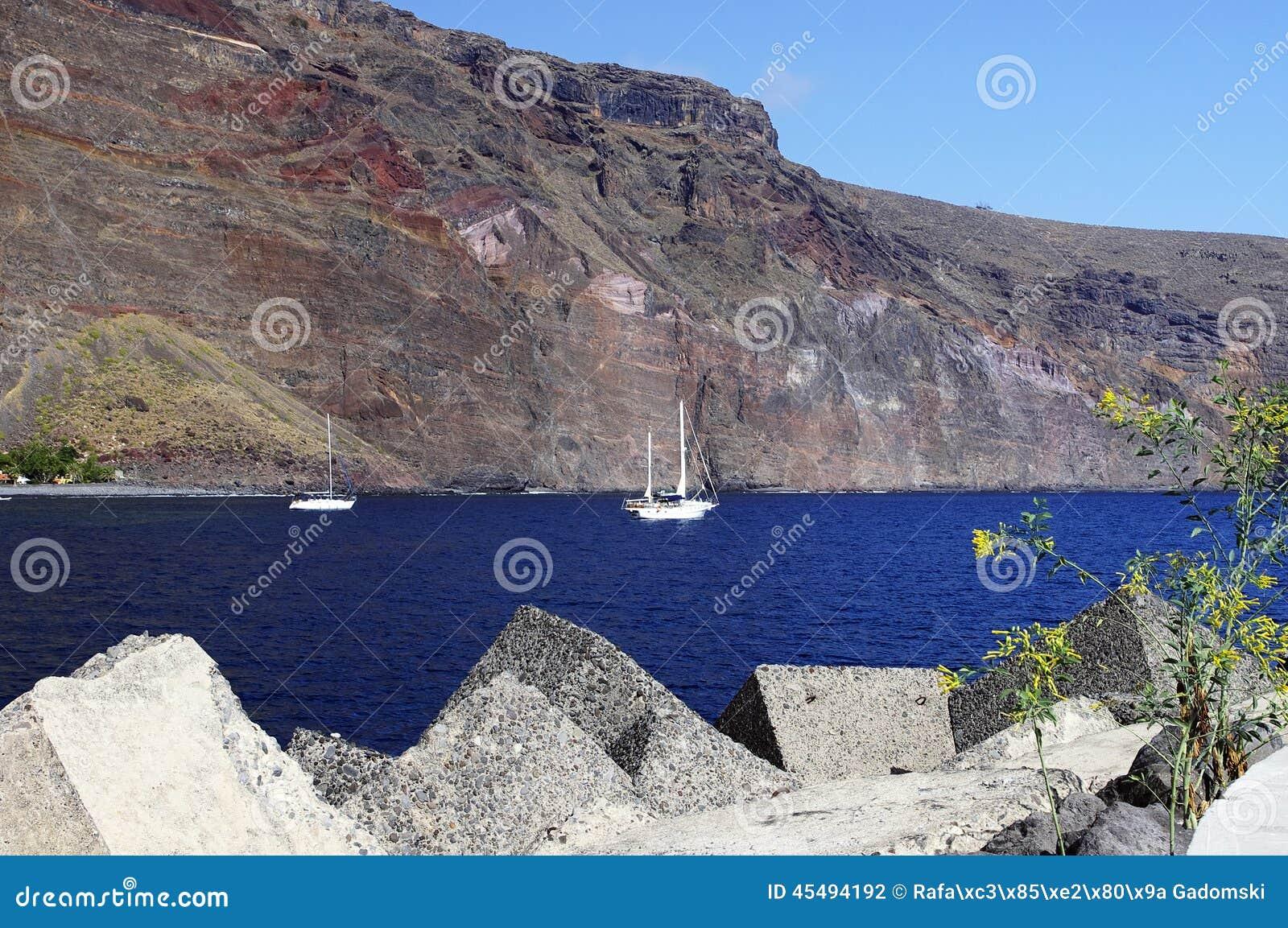 瓦尔Gran Rey,戈梅拉岛小游艇船坞