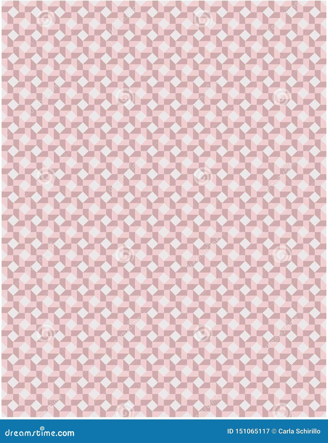 瓦片启发了在桃红色和灰色口气的马赛克无缝的样式