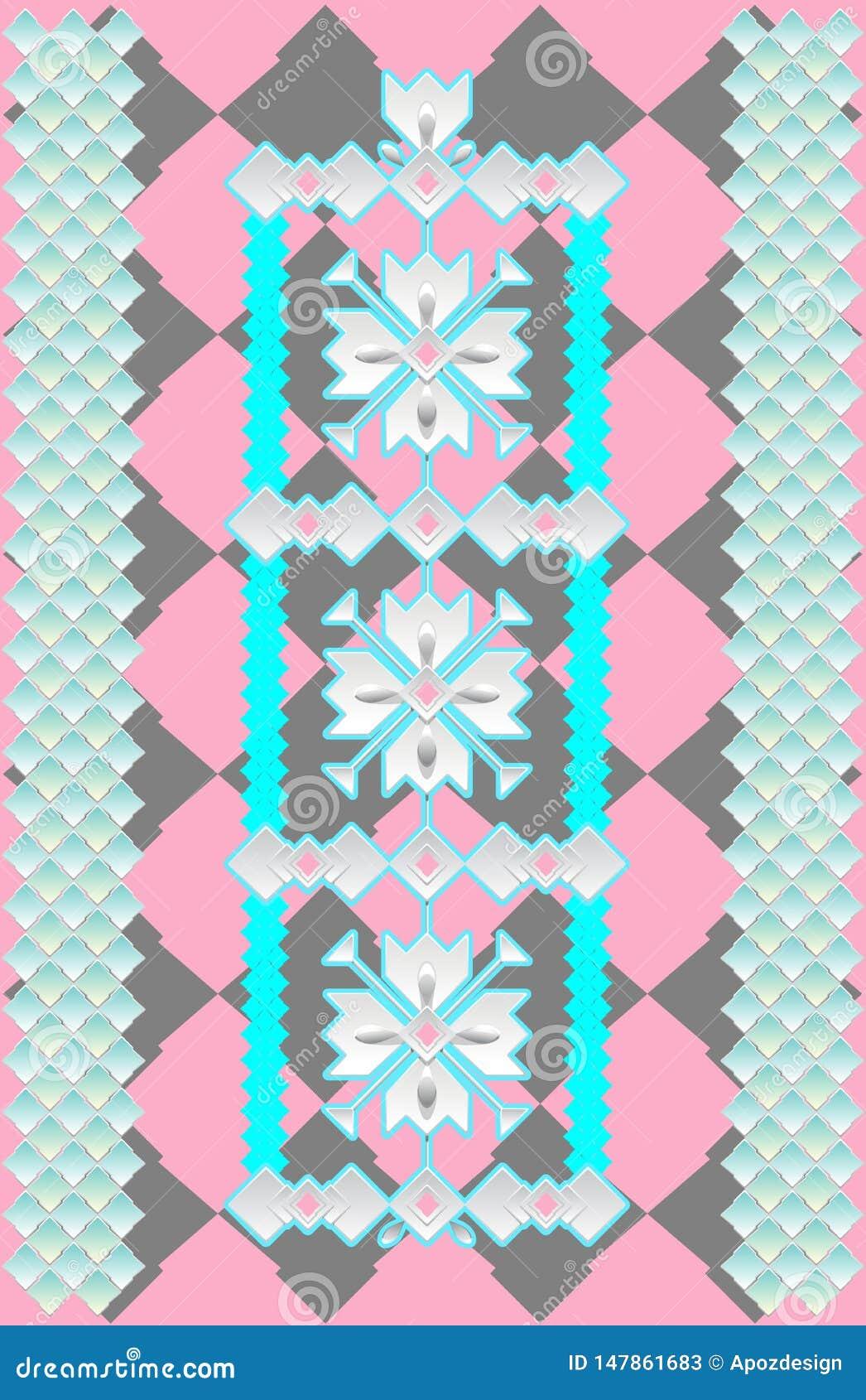 瓦片装饰样式在轻淡优美的色彩下