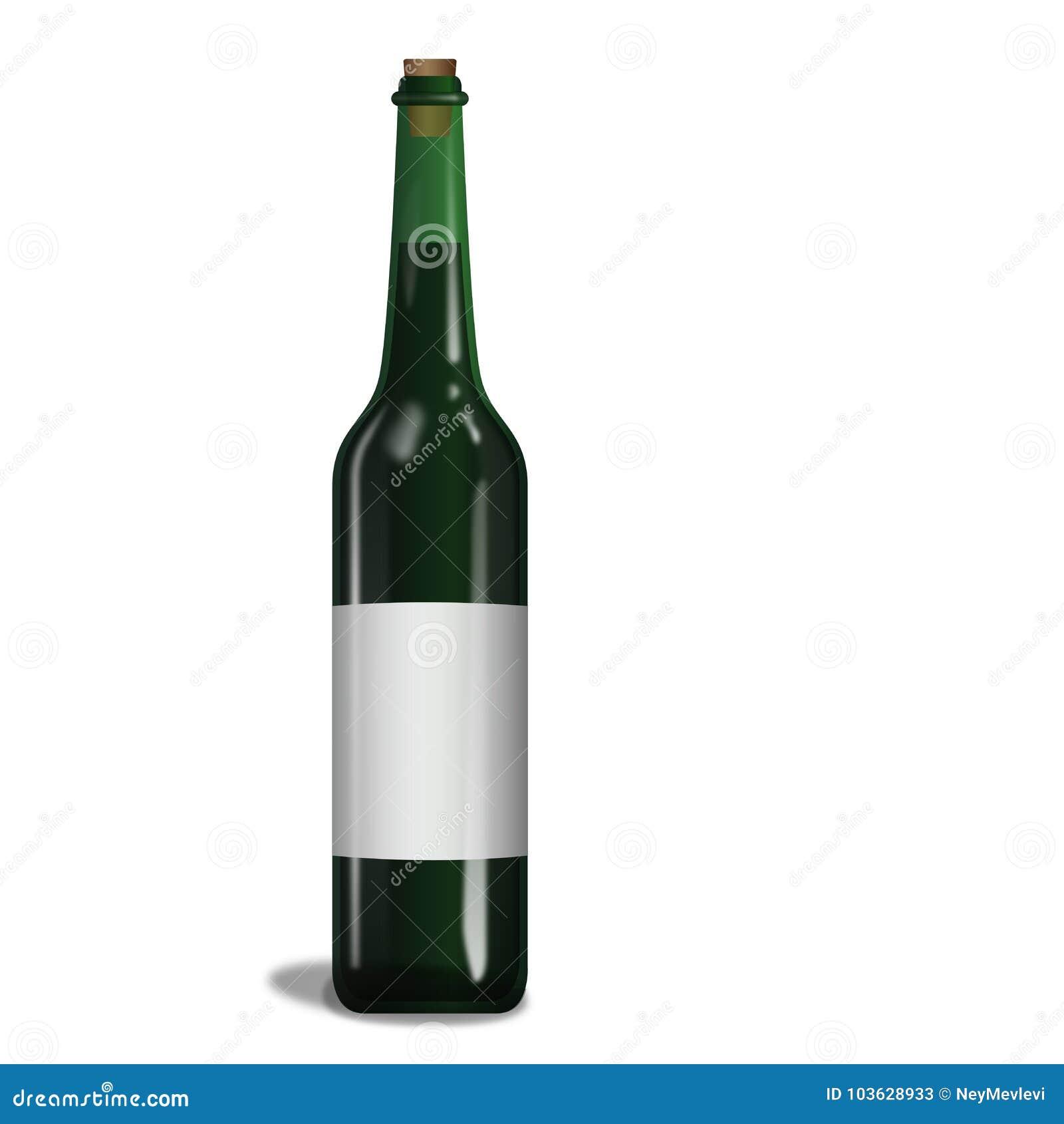 瓶纯净绿色酒