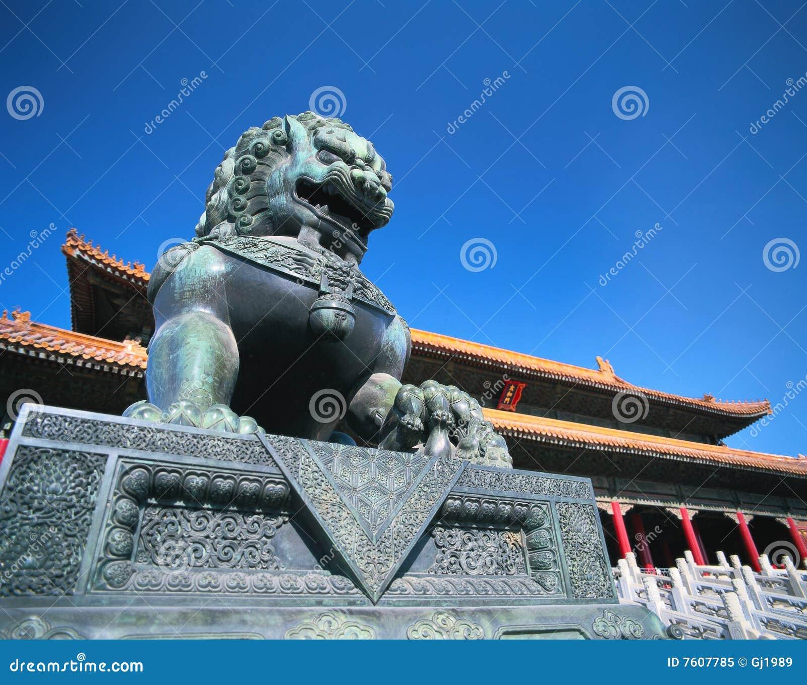 瓷狮子石头