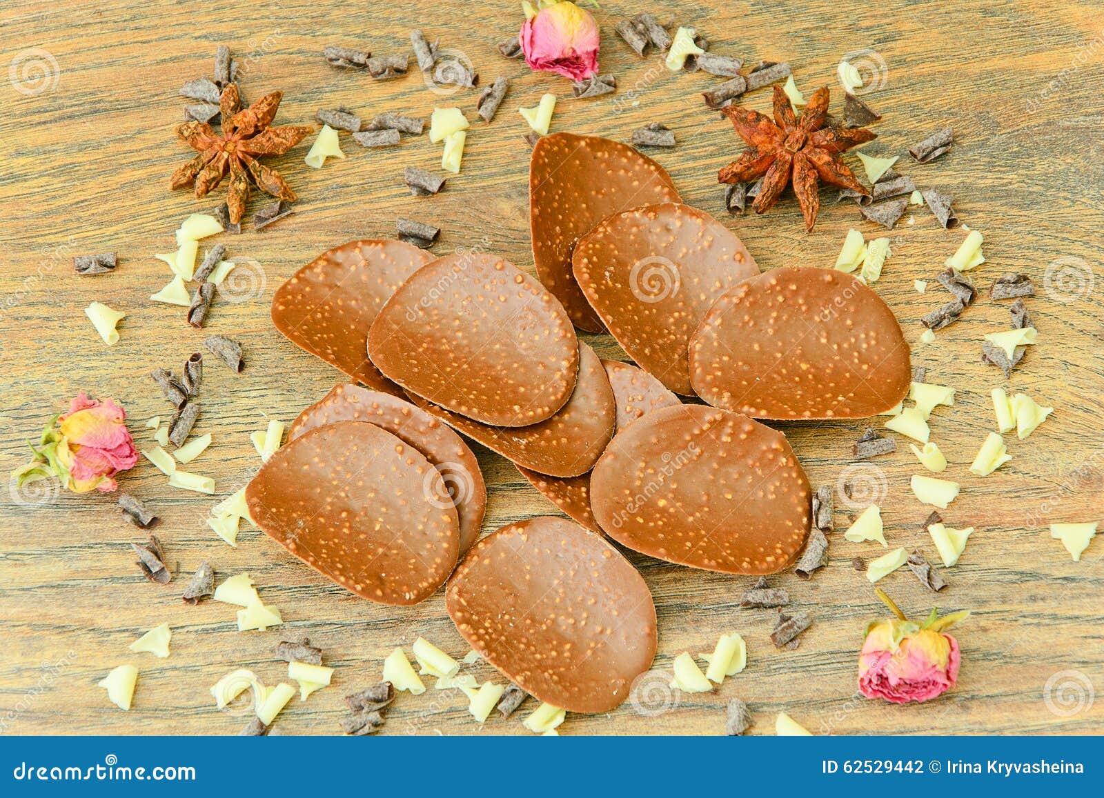 甜可食的装饰:巧克力片