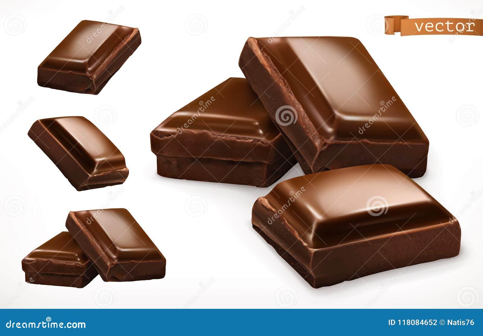甜巧克力点心宏观的部分 3d现实传染媒介象