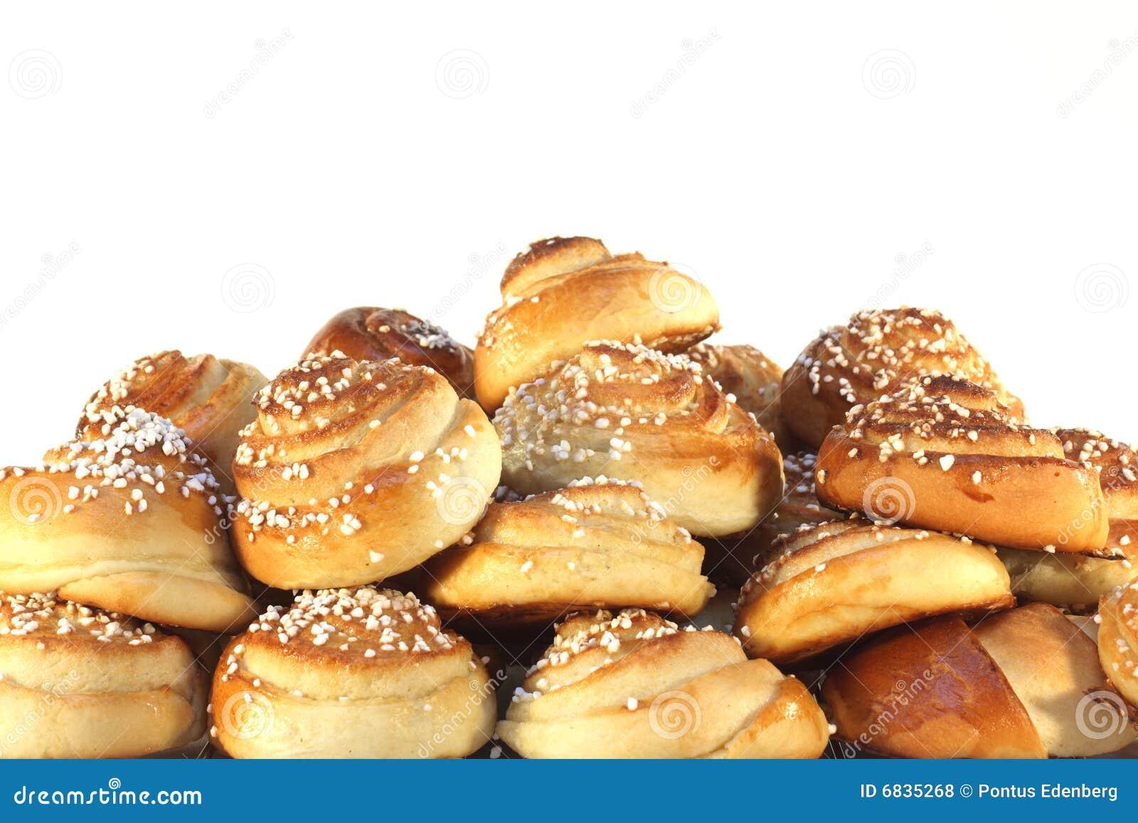 甜束的小圆面包