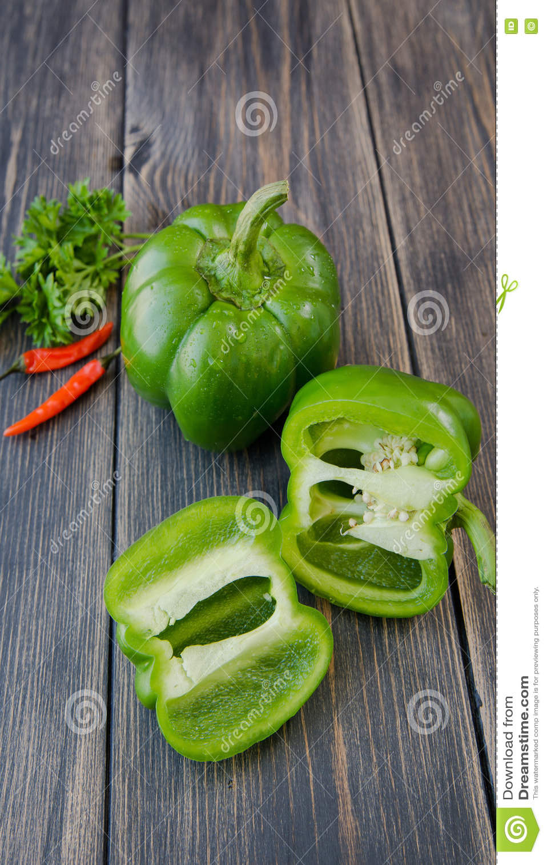 甜椒被分类的五颜六色的品种