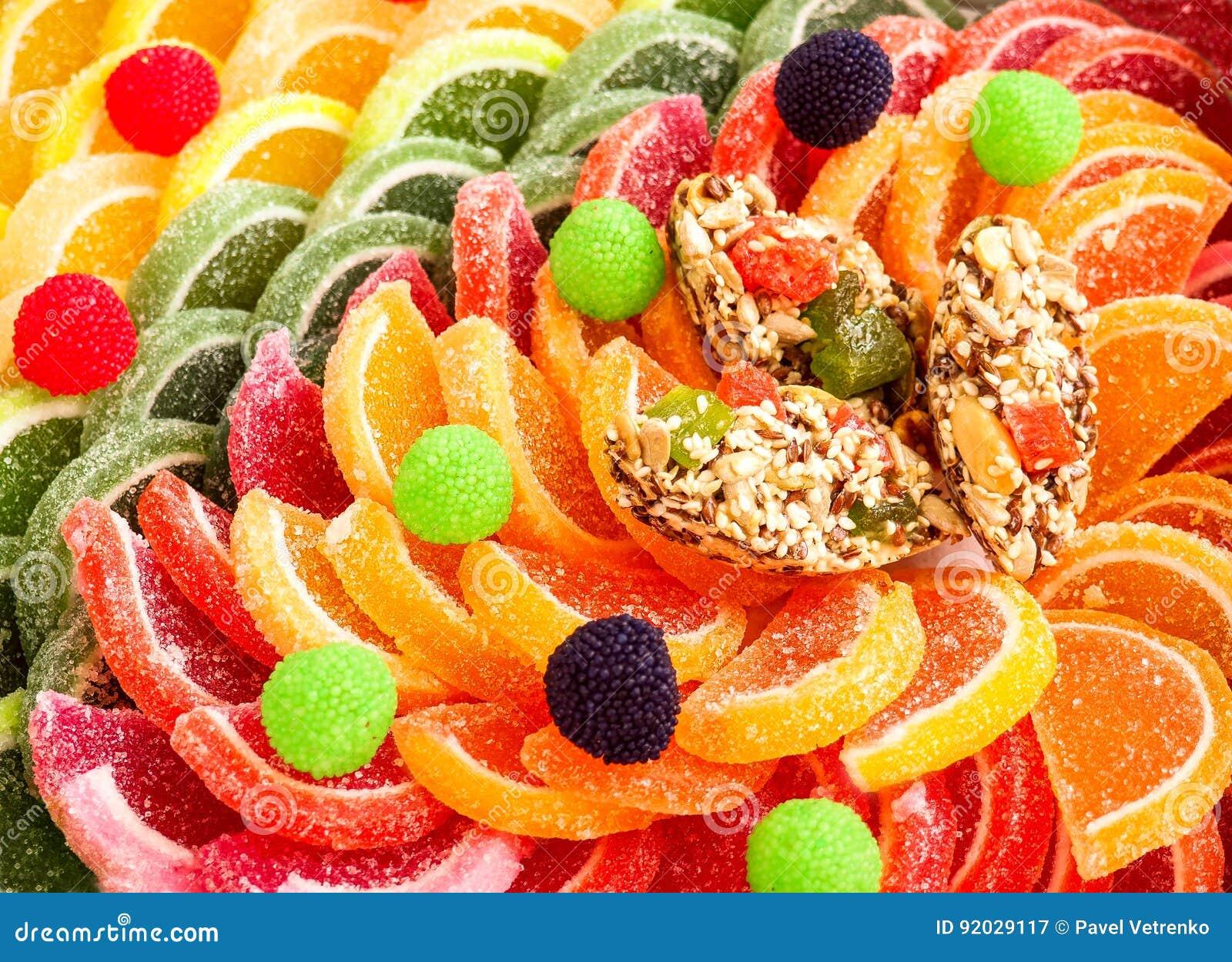 甜点橘子果酱糖果明胶果冻