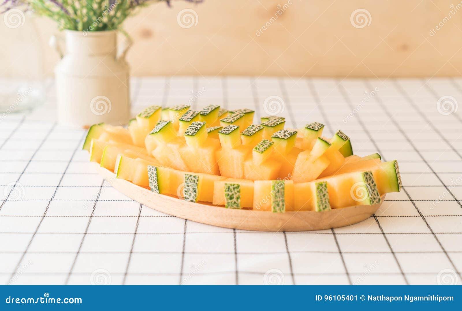 甜瓜新鲜的瓜