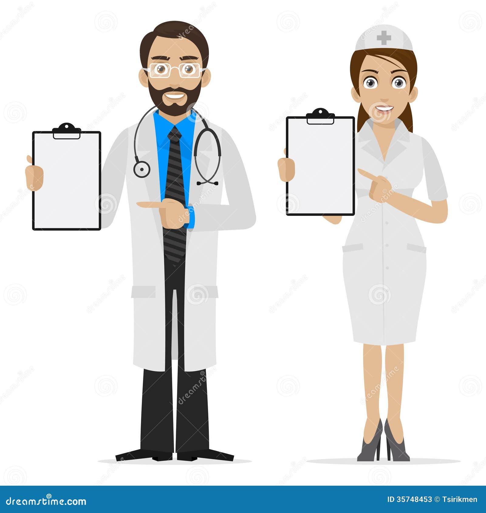医生和护士在形式指定