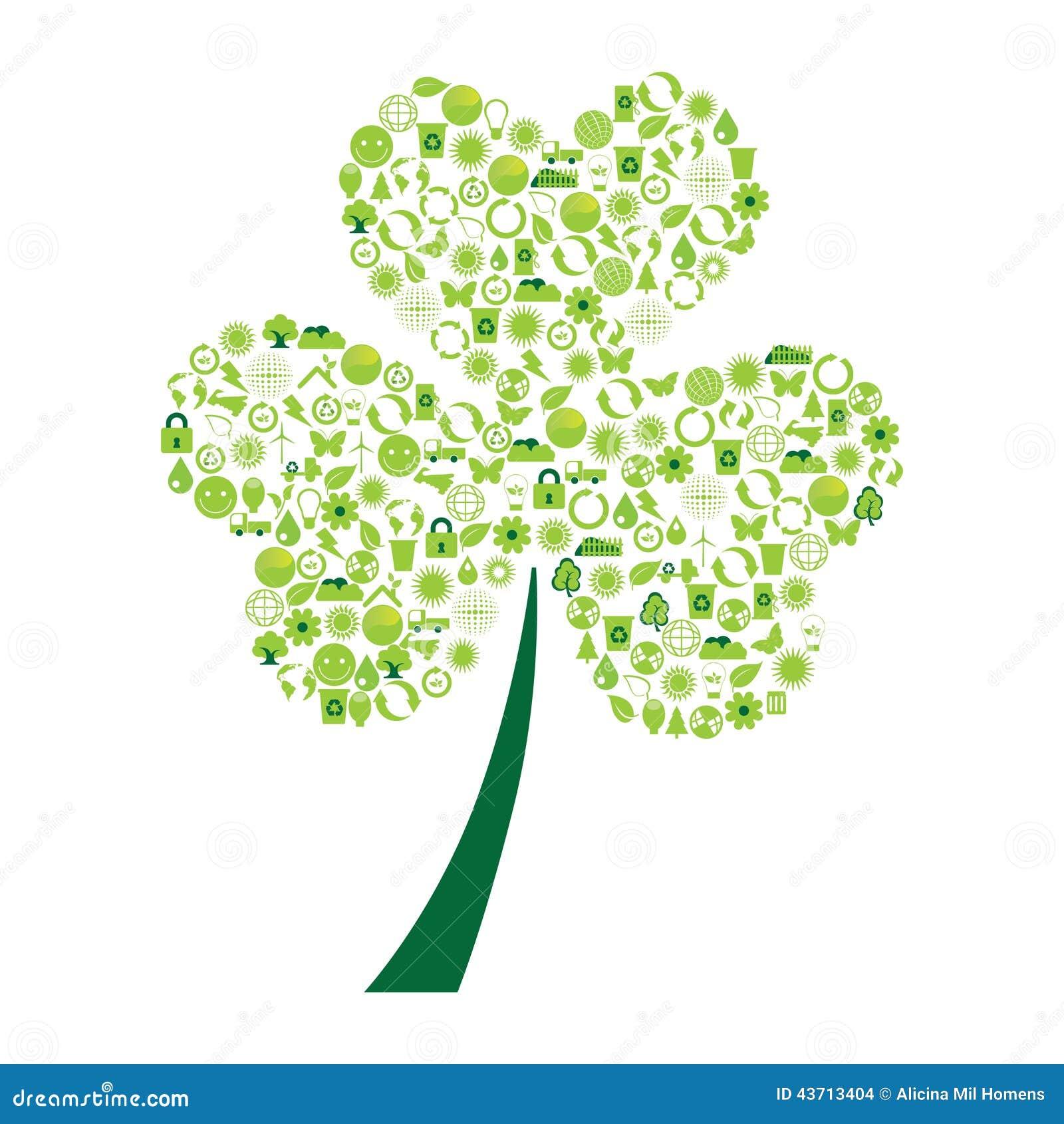 用生态标志做的三叶草.图片