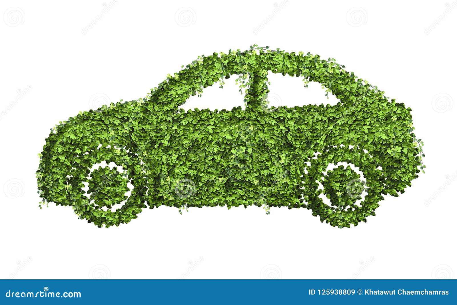 生态汽车从许多的设计观念绿色叶子