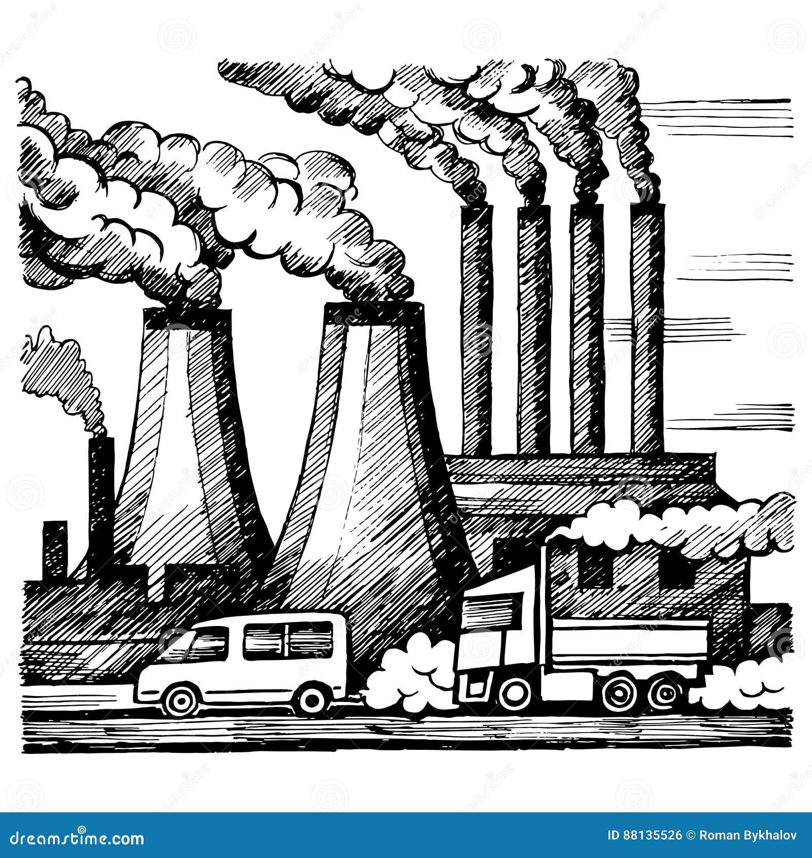 生态空气和大气污染 向量例证. 插画 包括有 环境