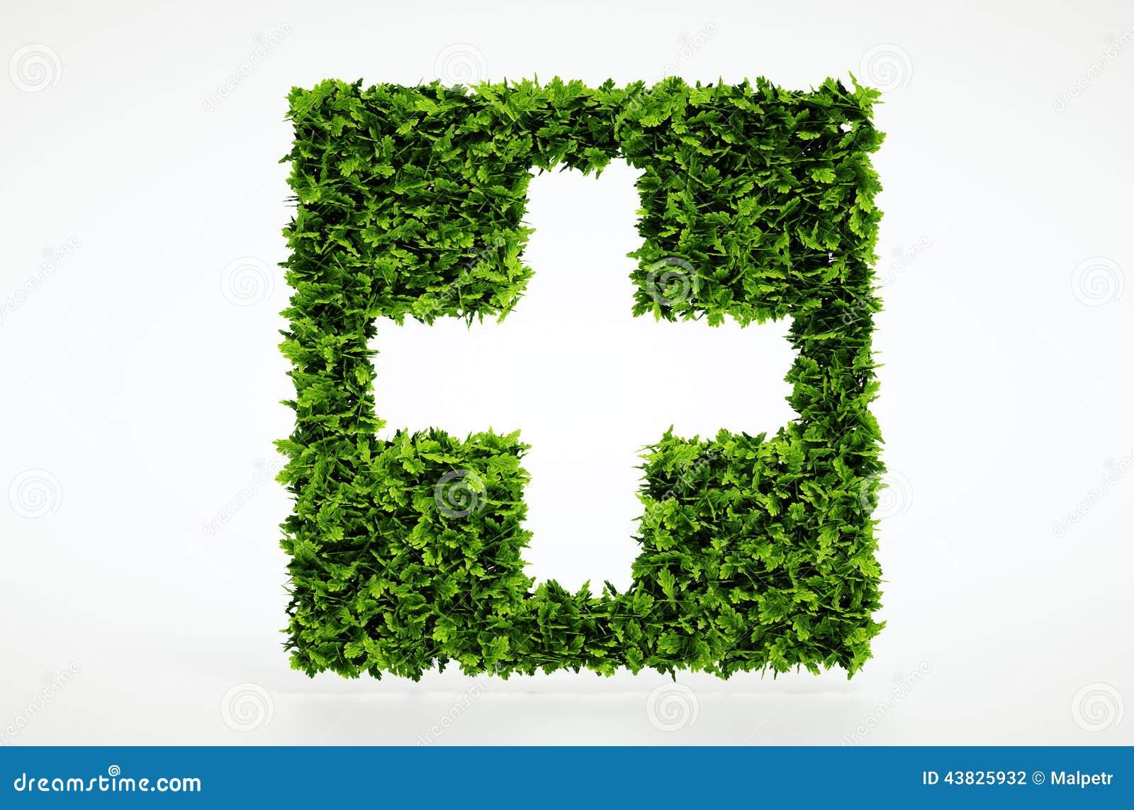 生态医疗标志有白色背景