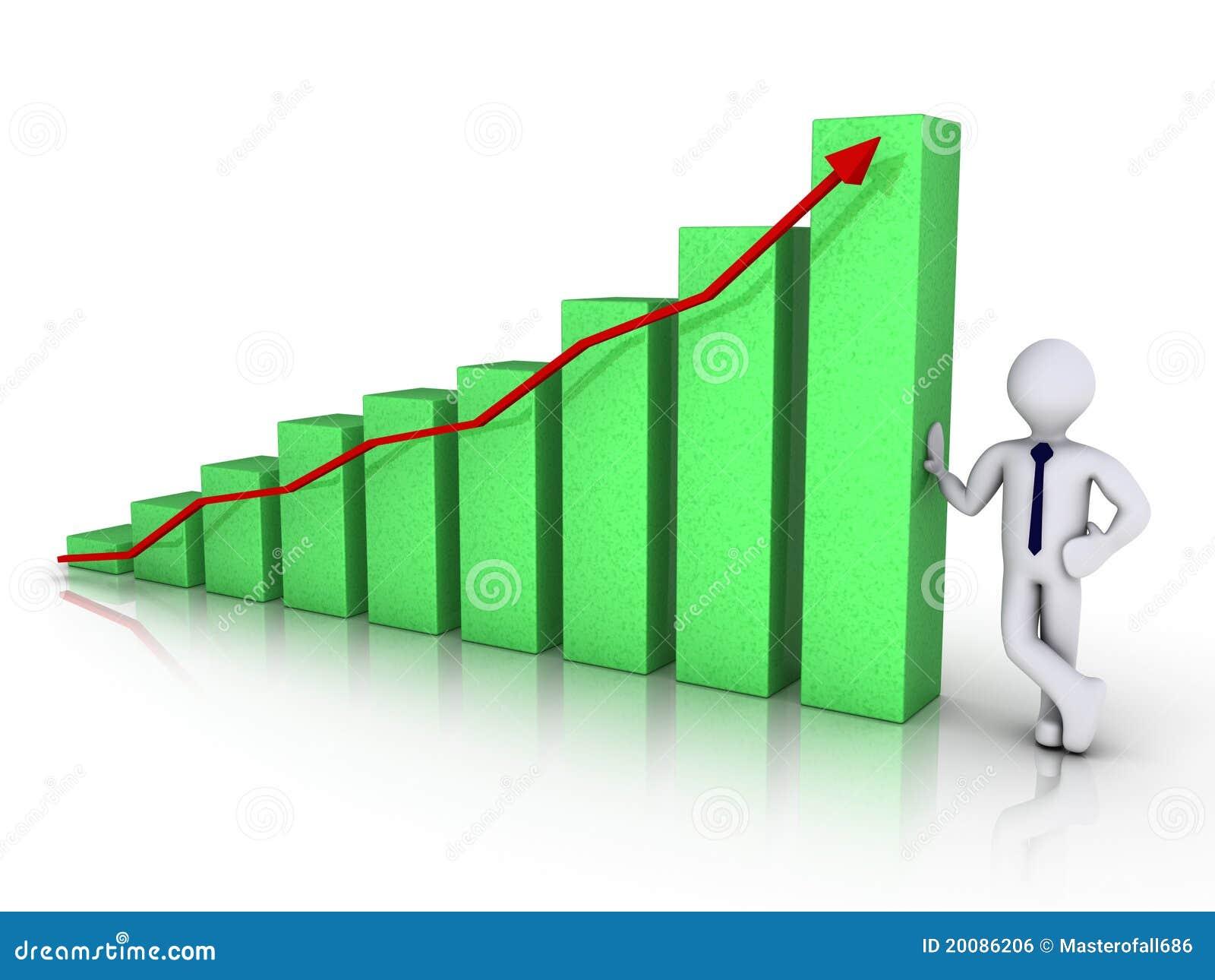 生意人图表绿色