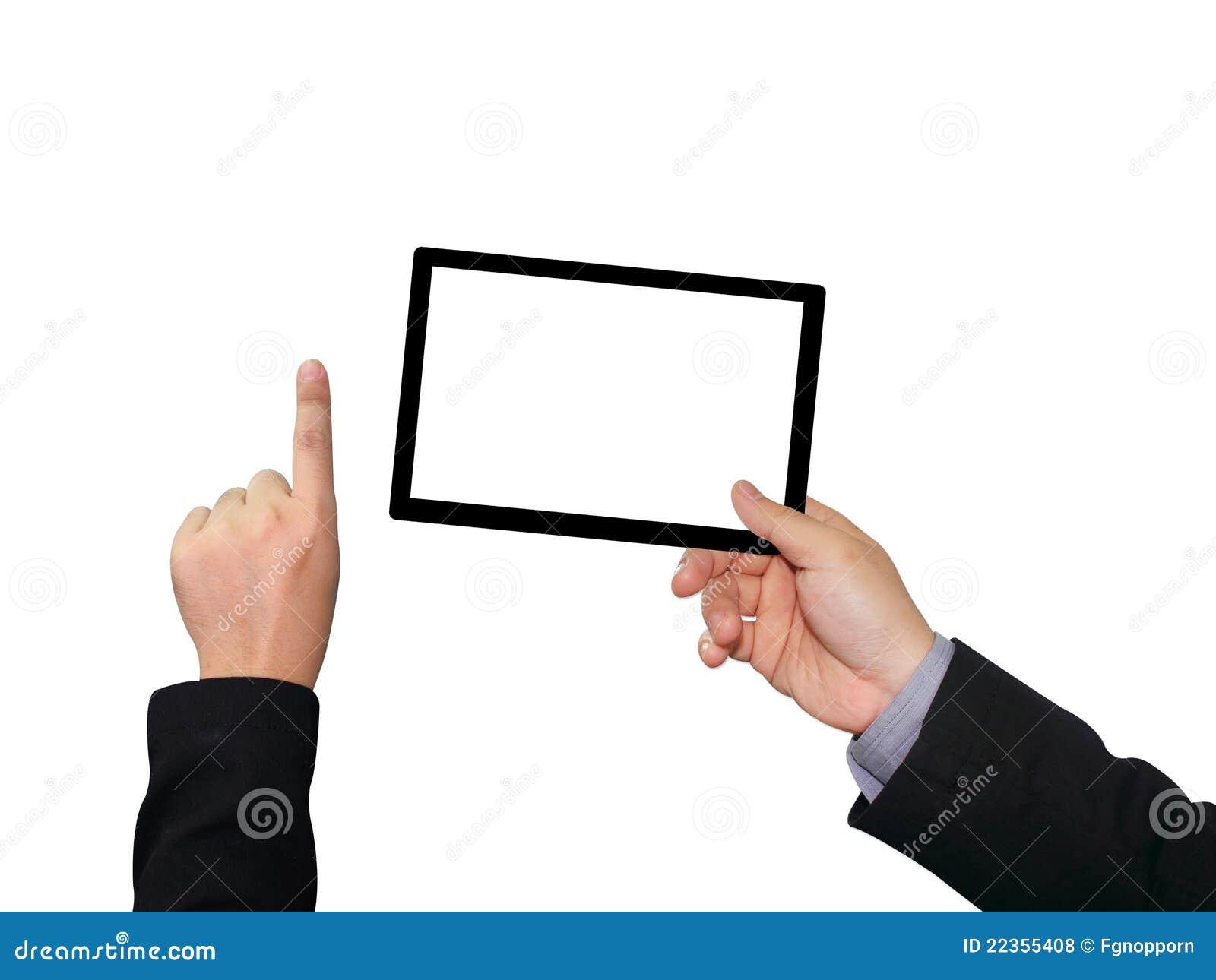 生意人设备藏品屏幕接触