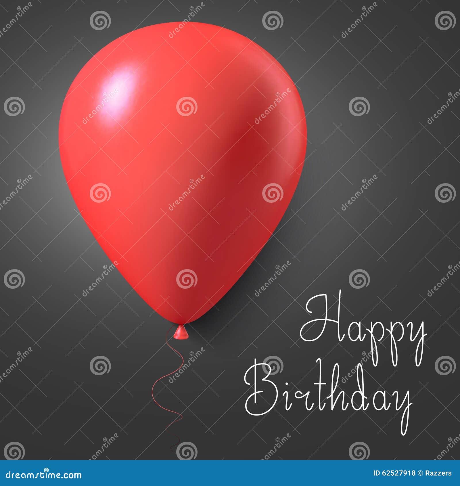 生日快乐传染媒介与气球的礼品券海报 可实现