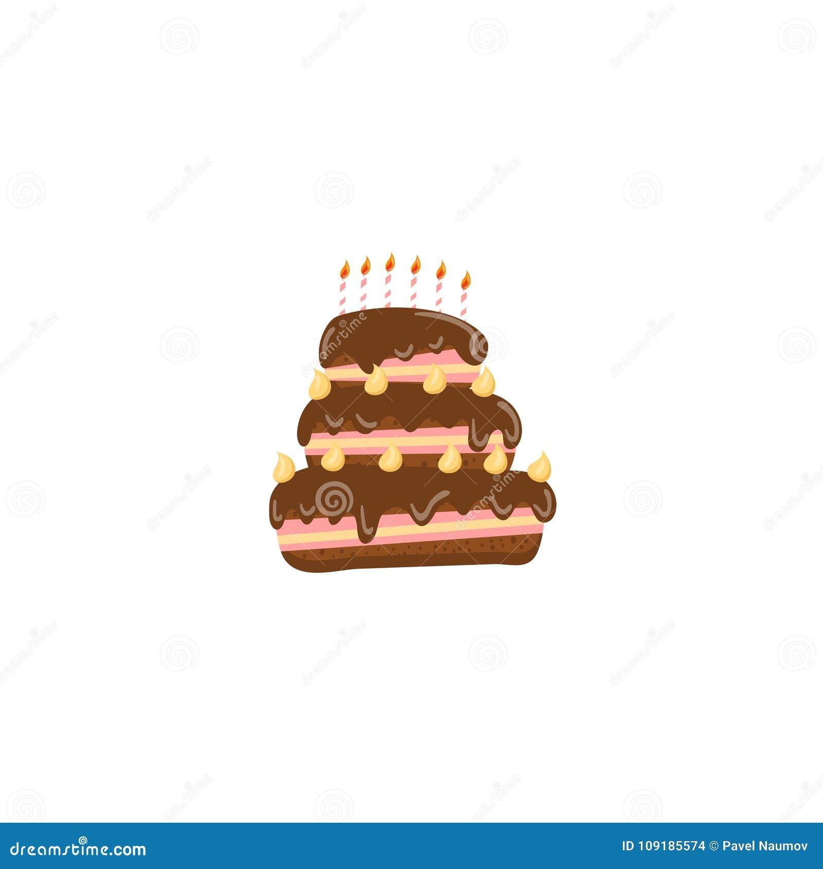 生日蛋糕动画片传染媒介例证
