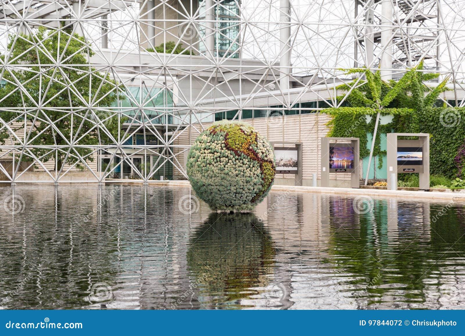 生物圈在Parc的吉恩德拉波,魁北克,加拿大蒙特利尔