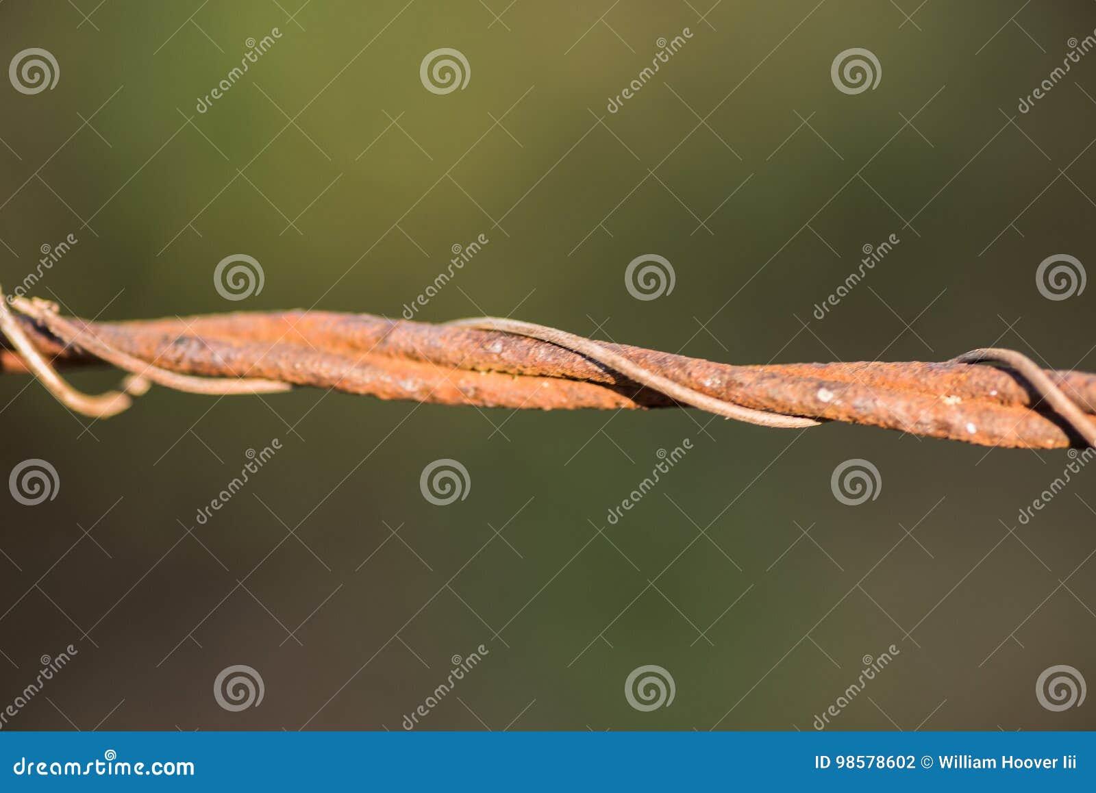 生锈的铁丝网篱芭