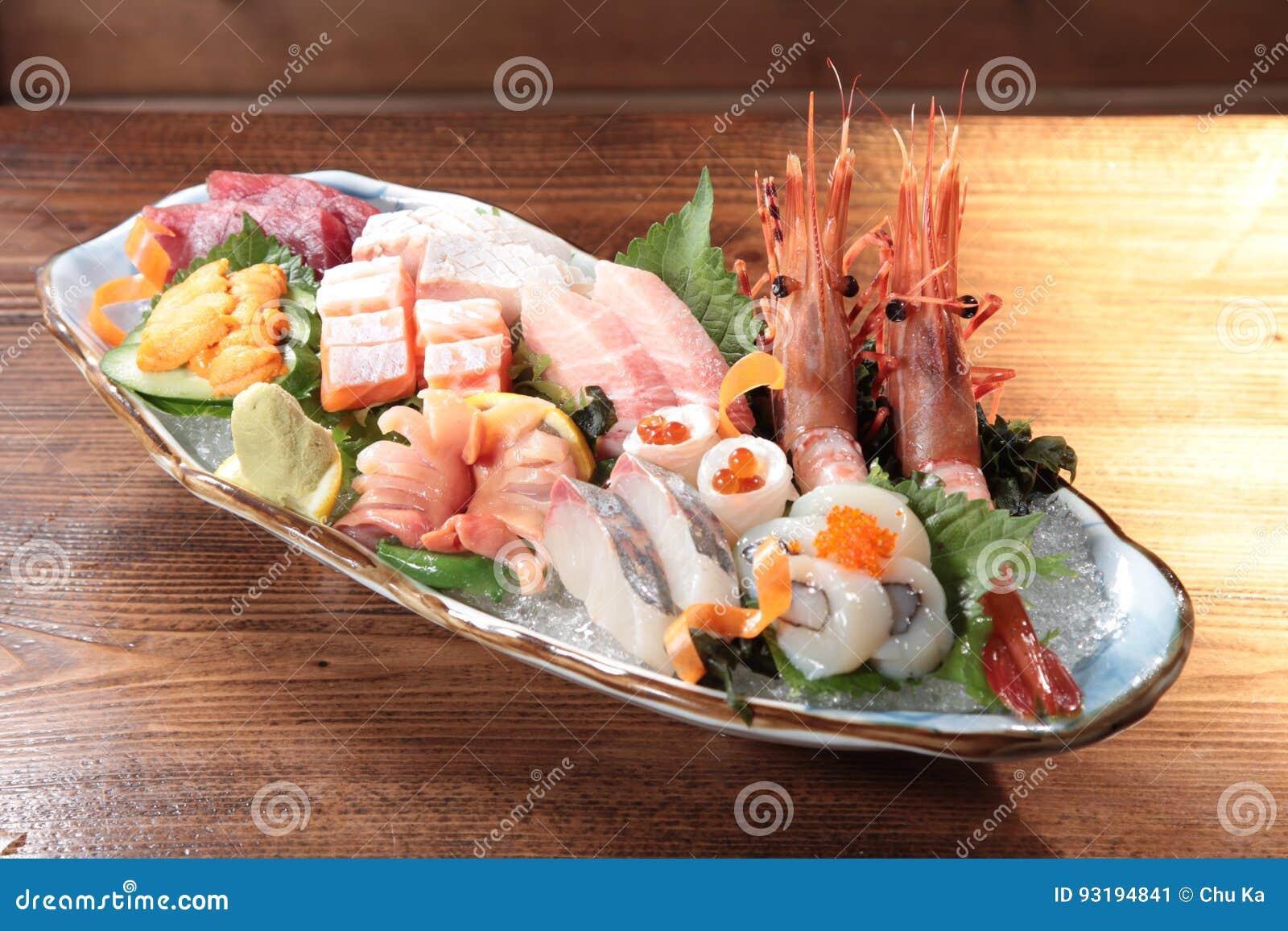 生鱼片日本烹调