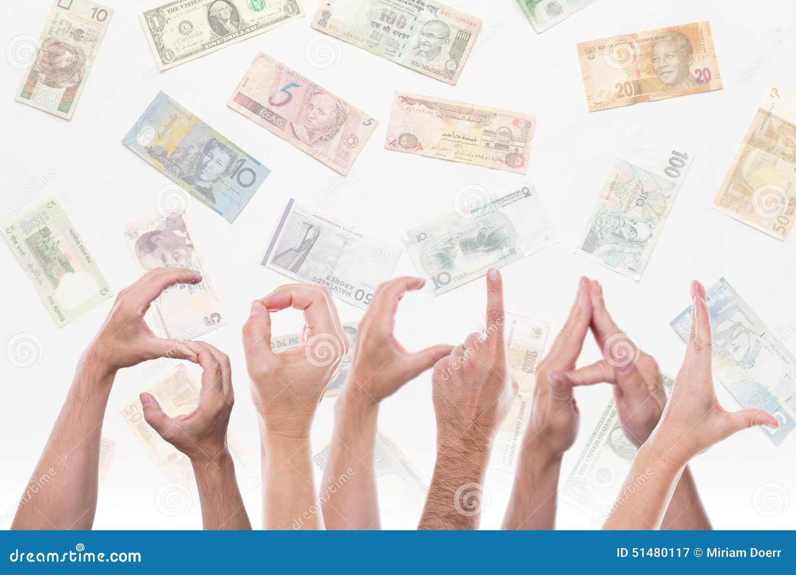 用不同的货币的词社交