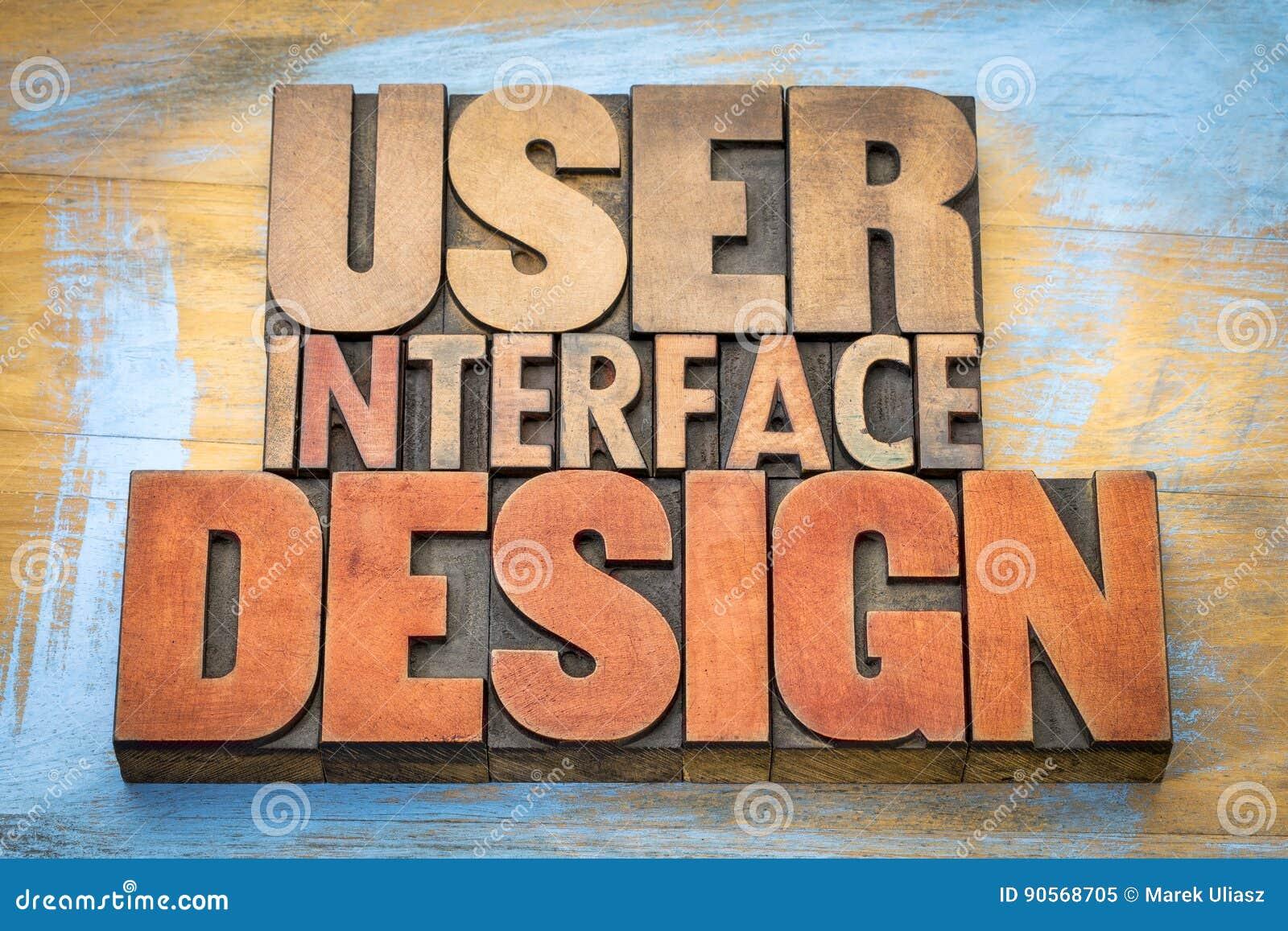 用户界面设计在活版块的词摘要