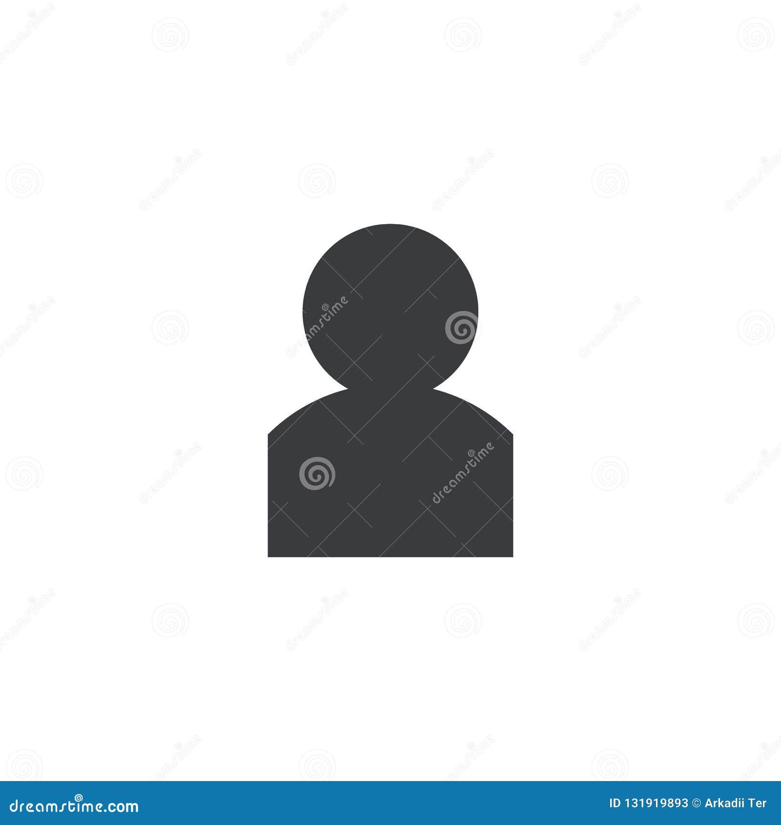 用户象 传染媒介人形状 设计流动应用程序或网站的元素 帐户标志