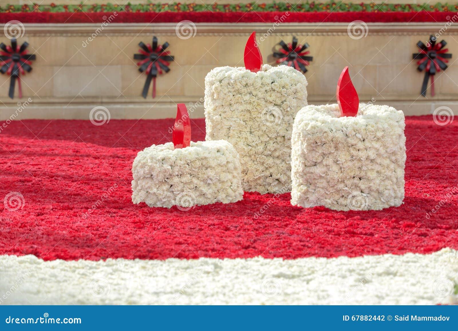 用花做的蜡烛