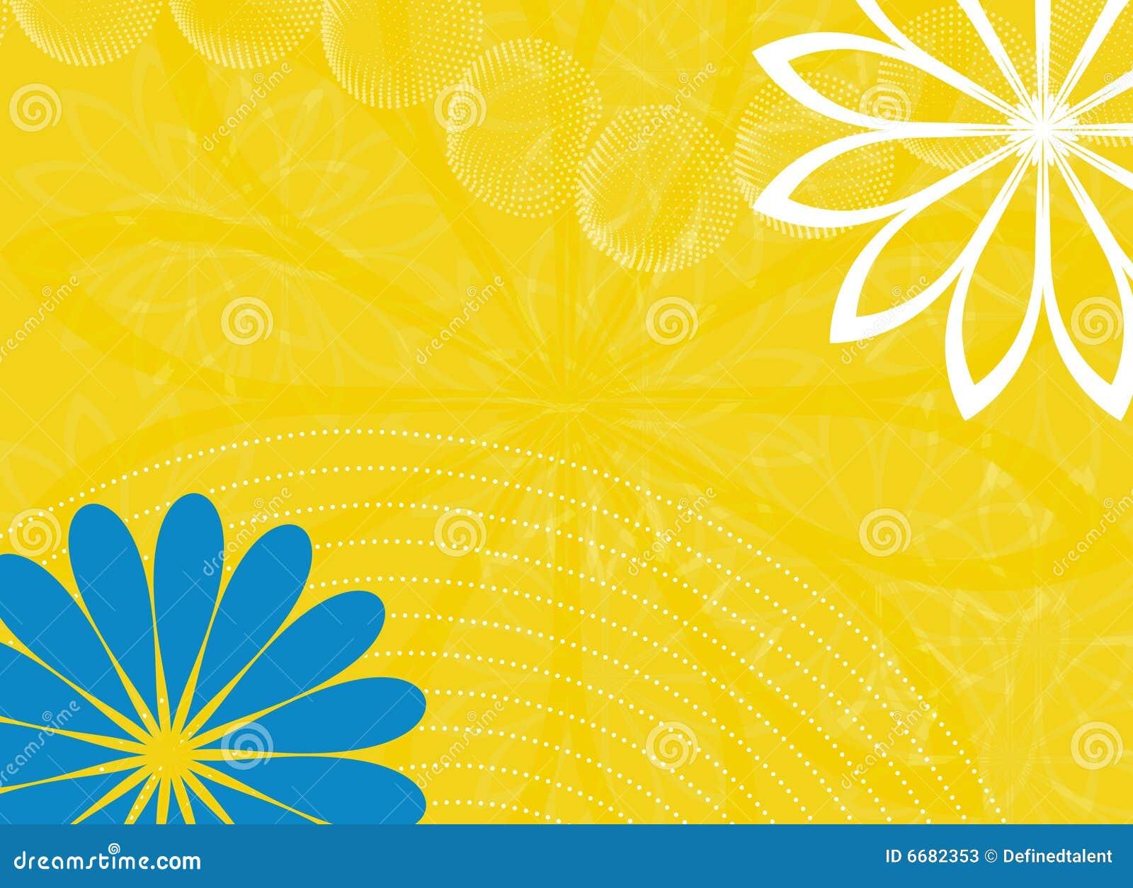 用花装饰的春天背景