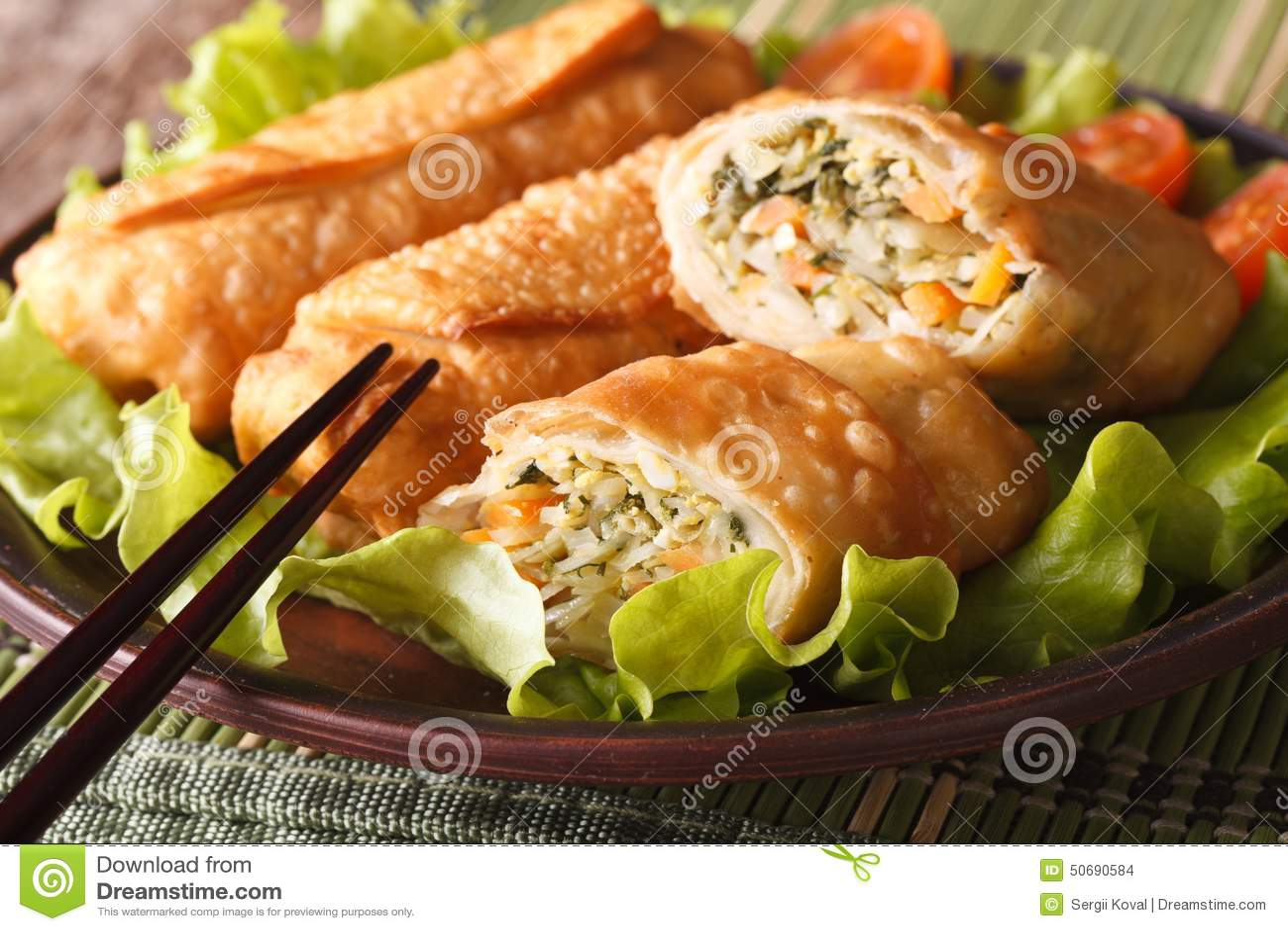 Download 用菜特写镜头充塞的油煎的春卷 水平 库存照片. 图片 包括有 肥胖, 食物, 油煎, 生气勃勃, 酥脆, 没人 - 50690584