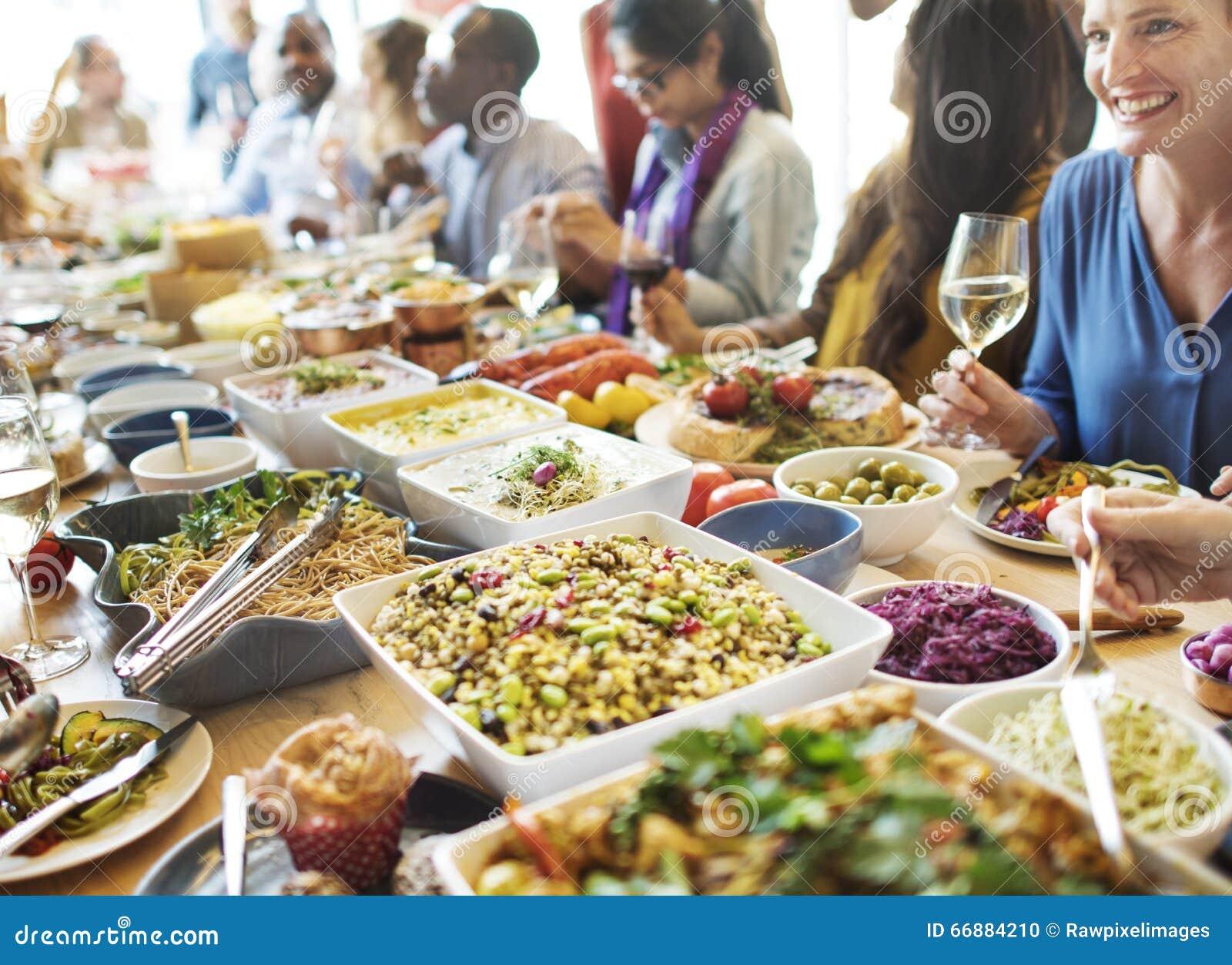 用餐食物庆祝党概念的自助餐晚餐.图片