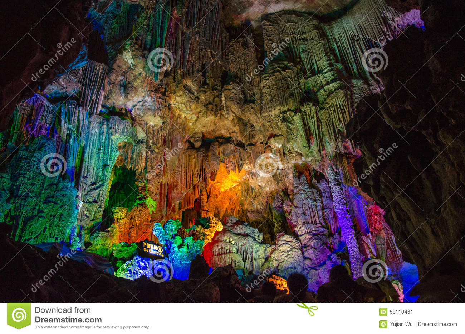 由于中国银色洞穴在桂林市Guangx
