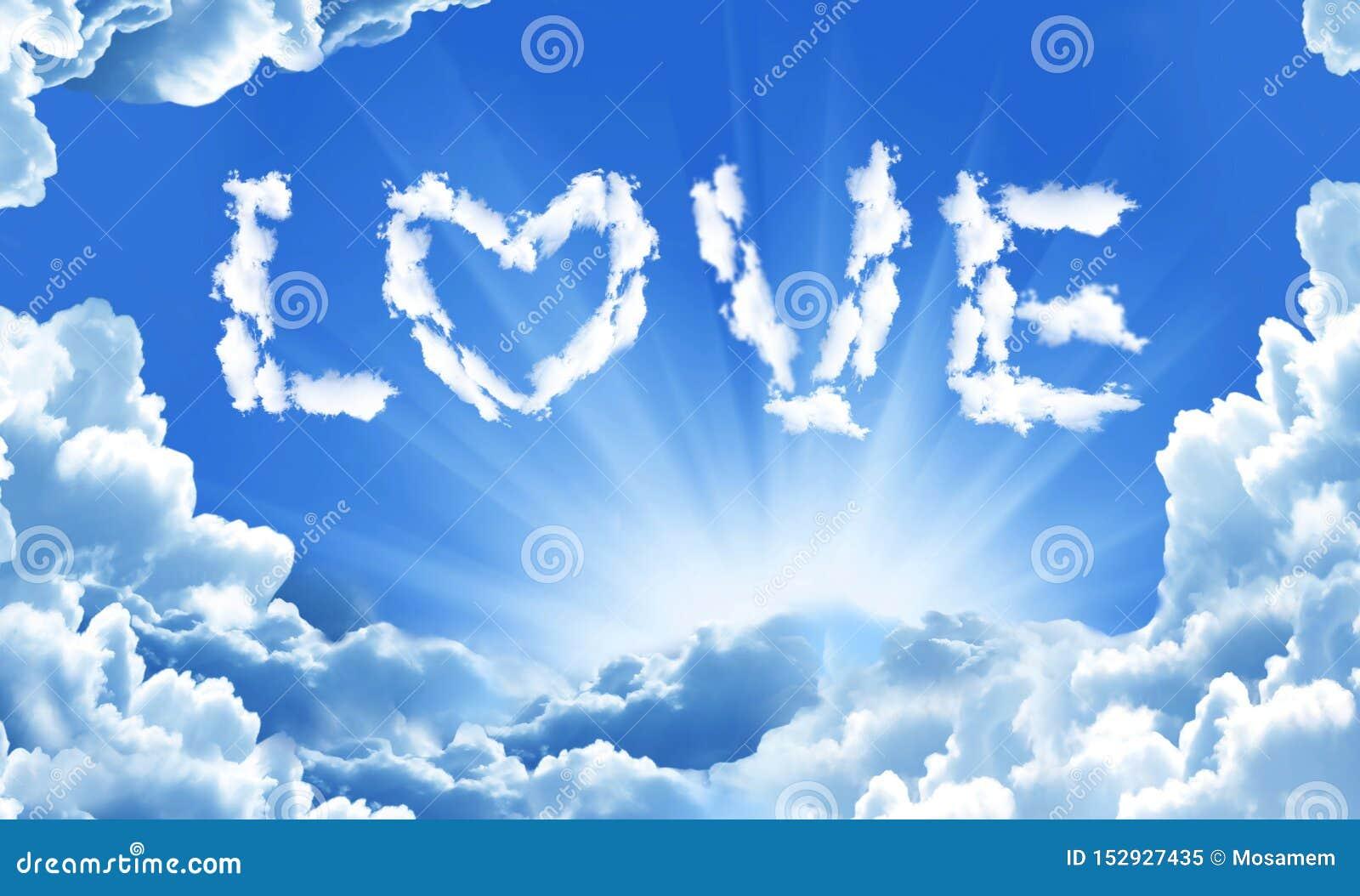 由云彩的爱词在天空