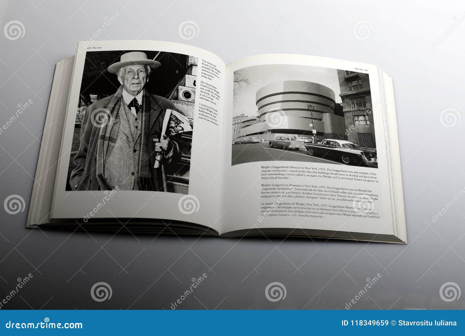 由尼克Yapp,弗兰克・劳埃德・赖特美国建筑师所著的摄影书和古根海姆美术馆在纽约