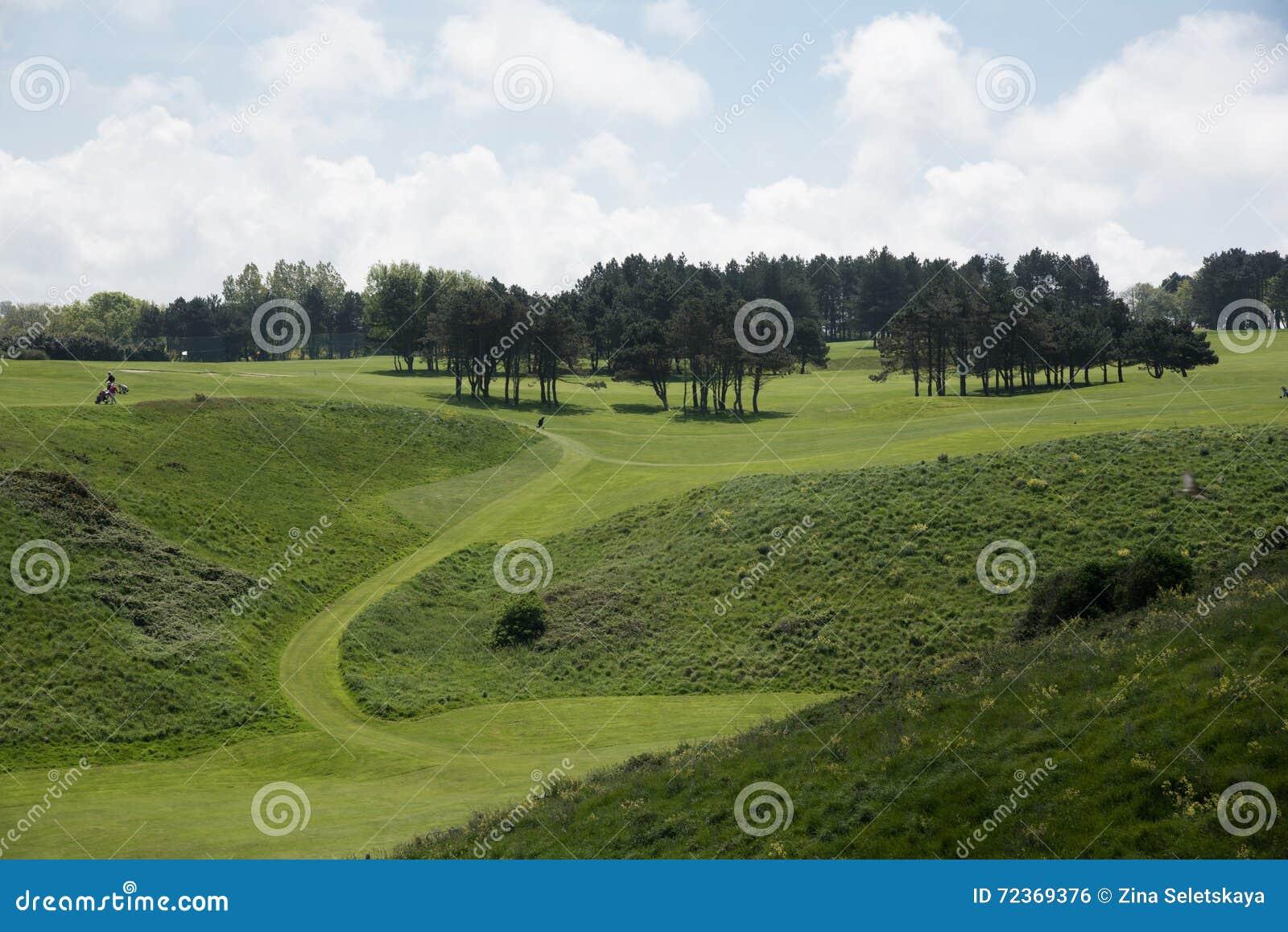 由市Etretat打高尔夫球领域, Normandie