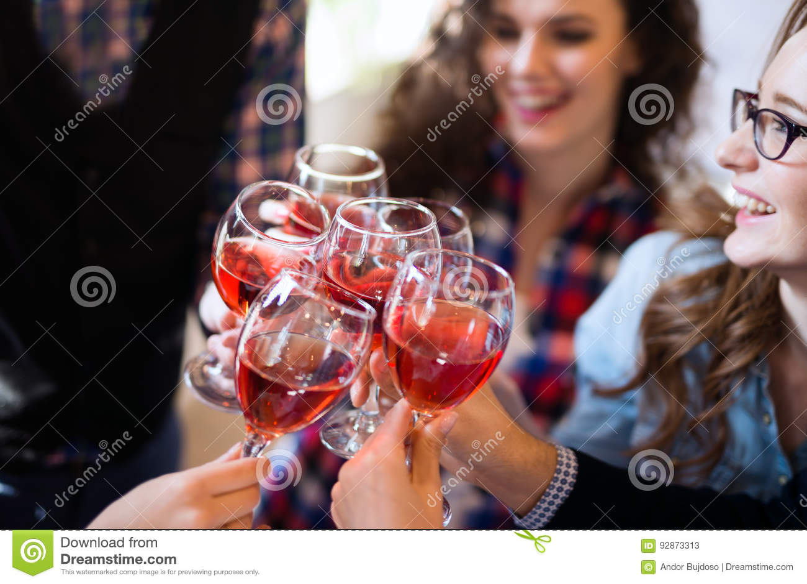 由愉快的人概念的品酒事件