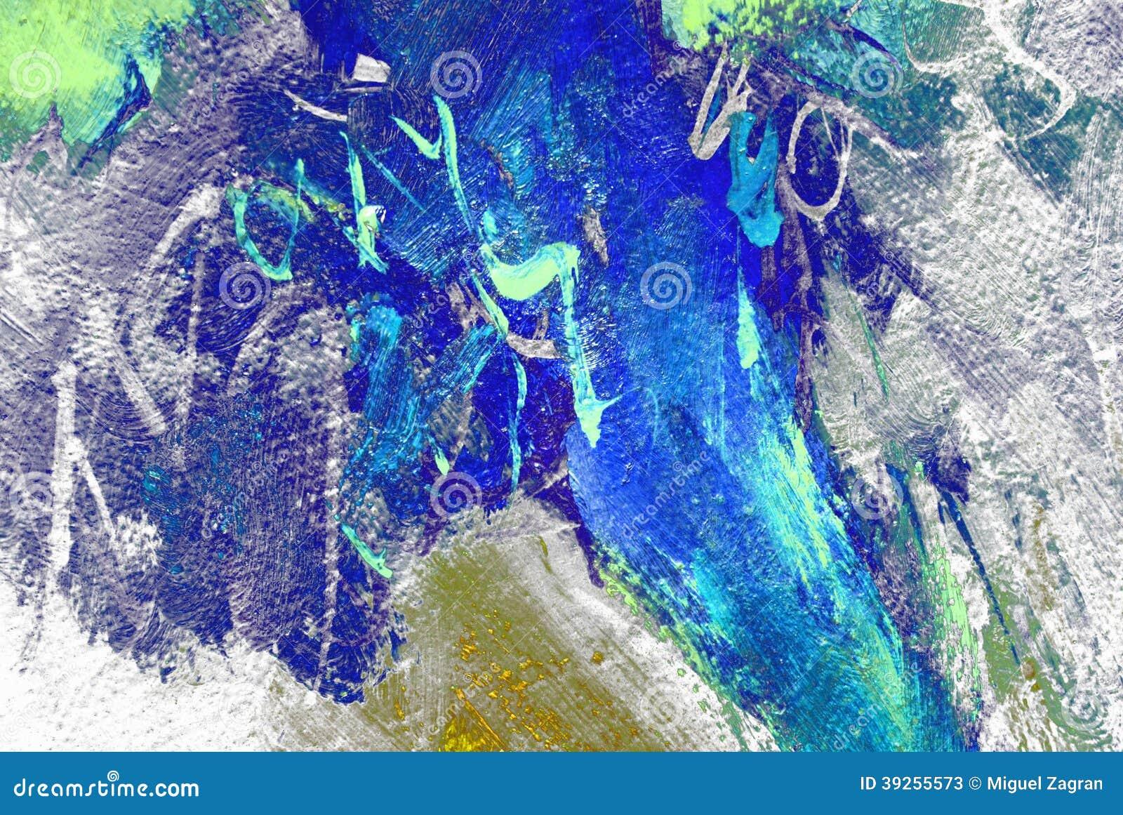 由油在帆布,背景,例证的绘画