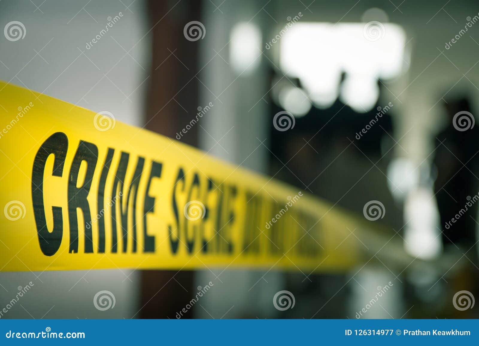 由警察线磁带的罪行概念与被弄脏的法庭法律enfo