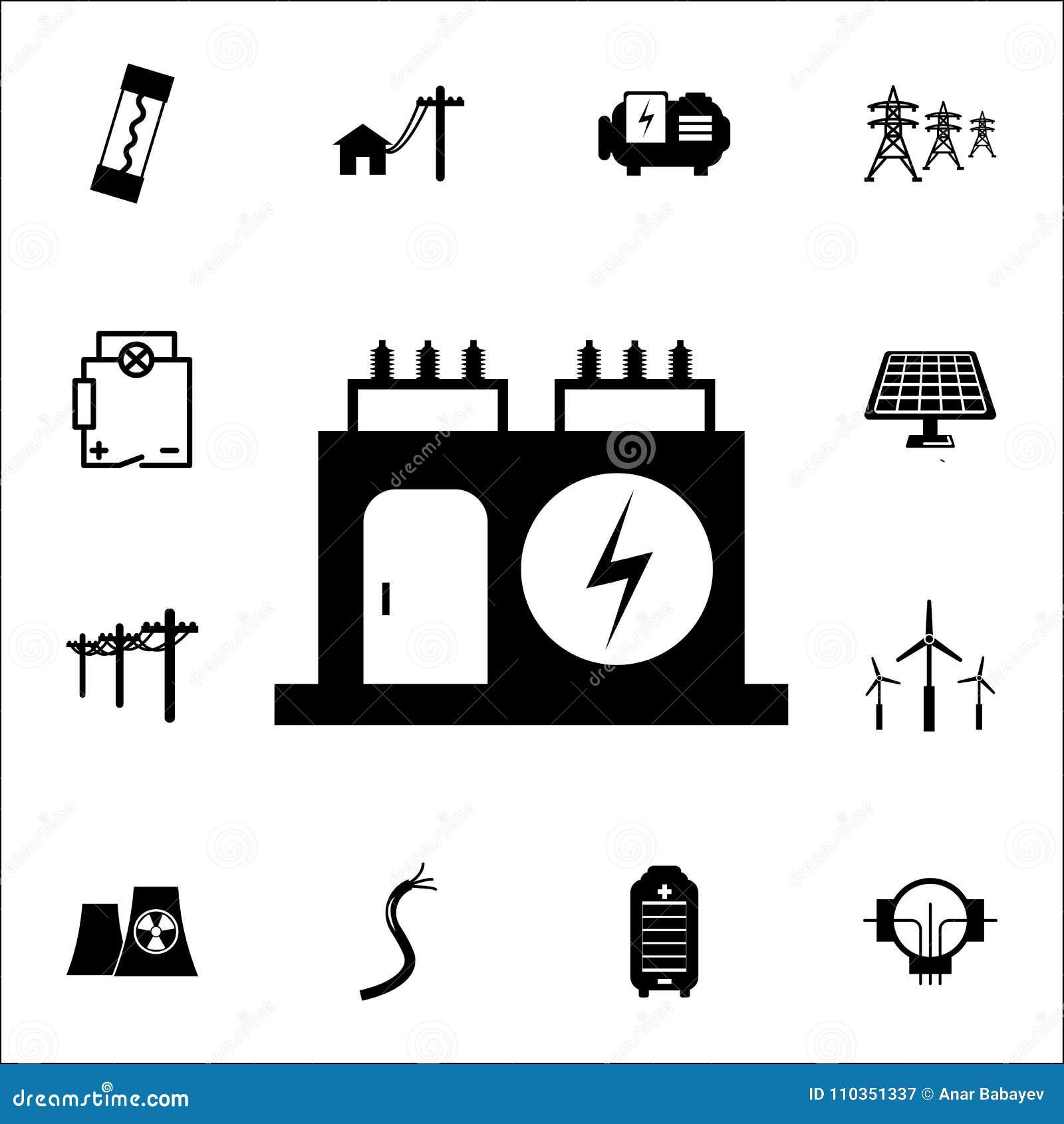 电变压器象 套能量象 优质质量图形设计象 标志和标志汇集象websi的