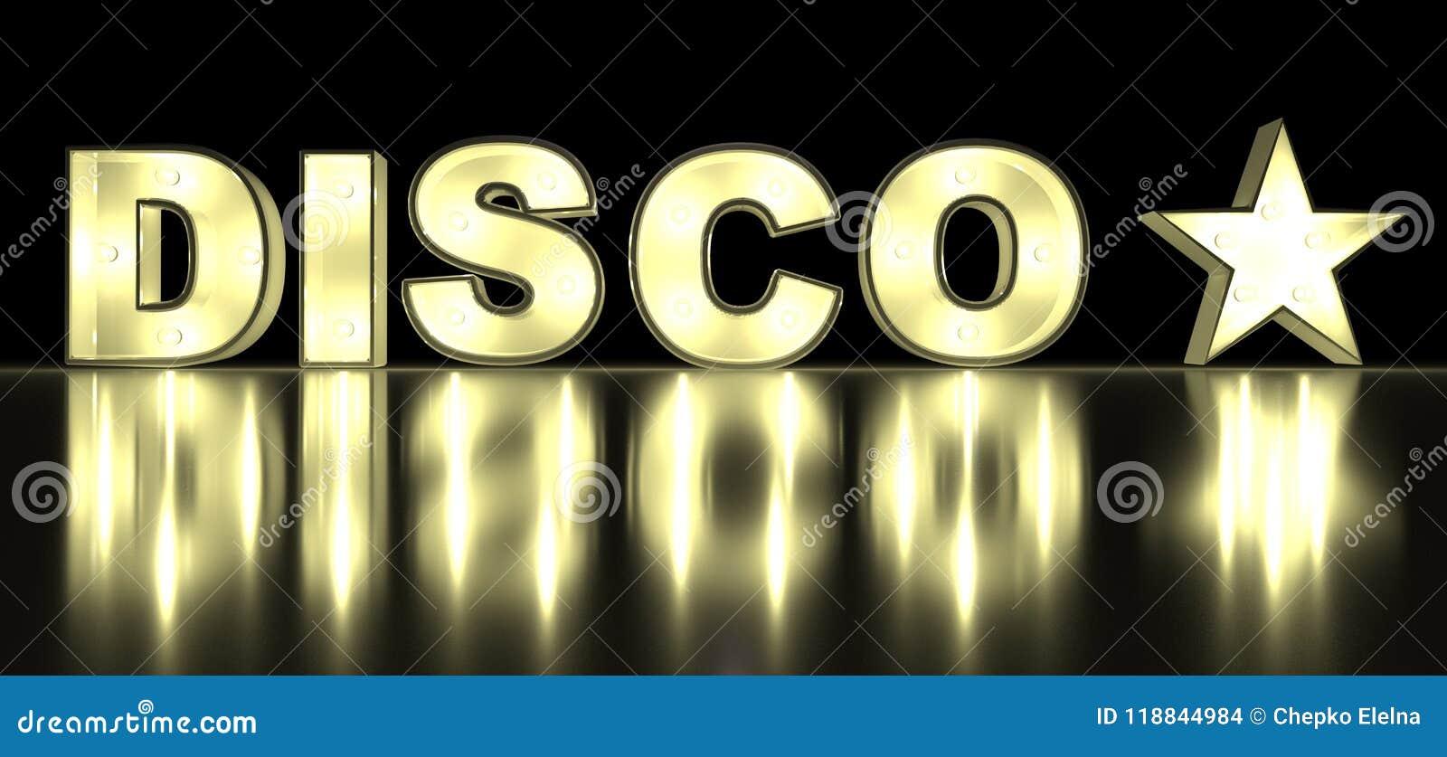电灯泡发光的信件迪斯科字母表字符