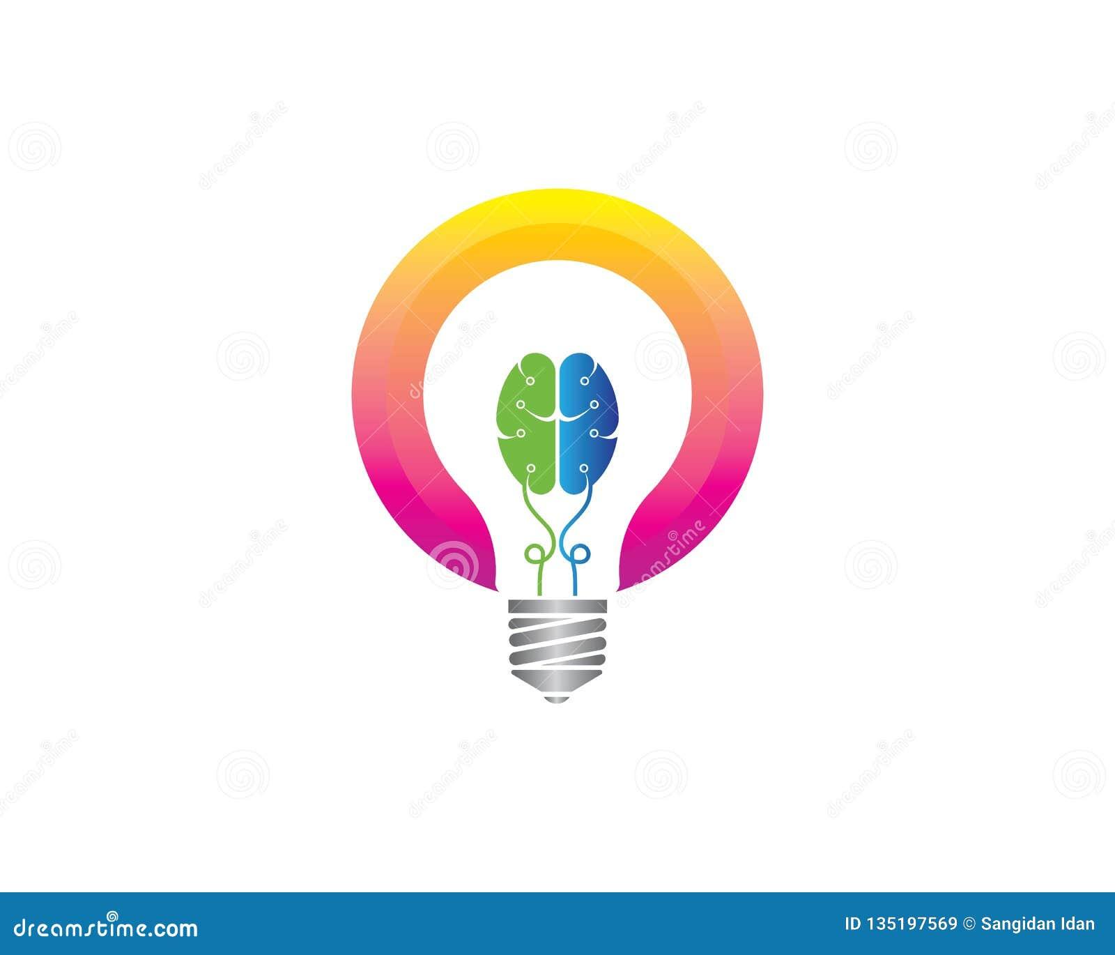 电灯泡想法,创造性,概念例证