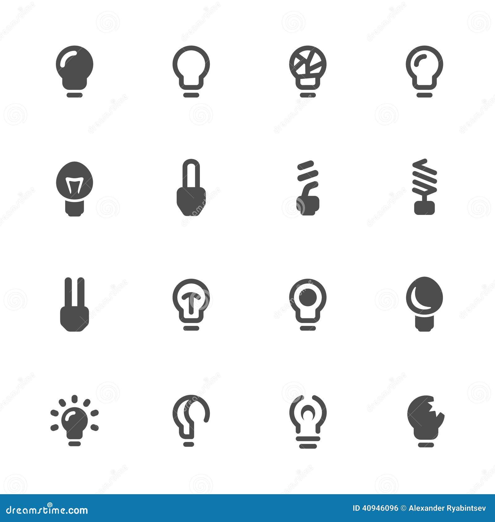 电灯泡查出的轻的白色 电灯泡象集合