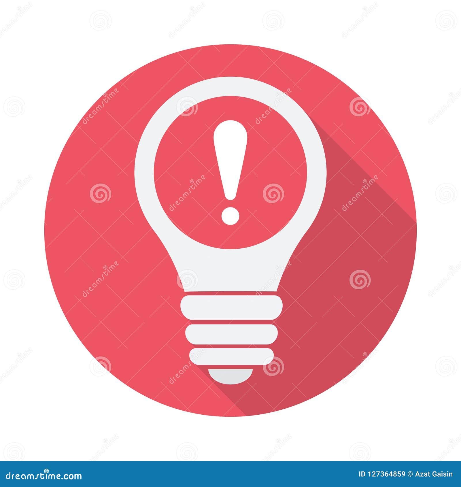 电灯泡象,想法,解答,与惊叹号的想法的象 电灯泡象和戒备,错误,警报,危险标志