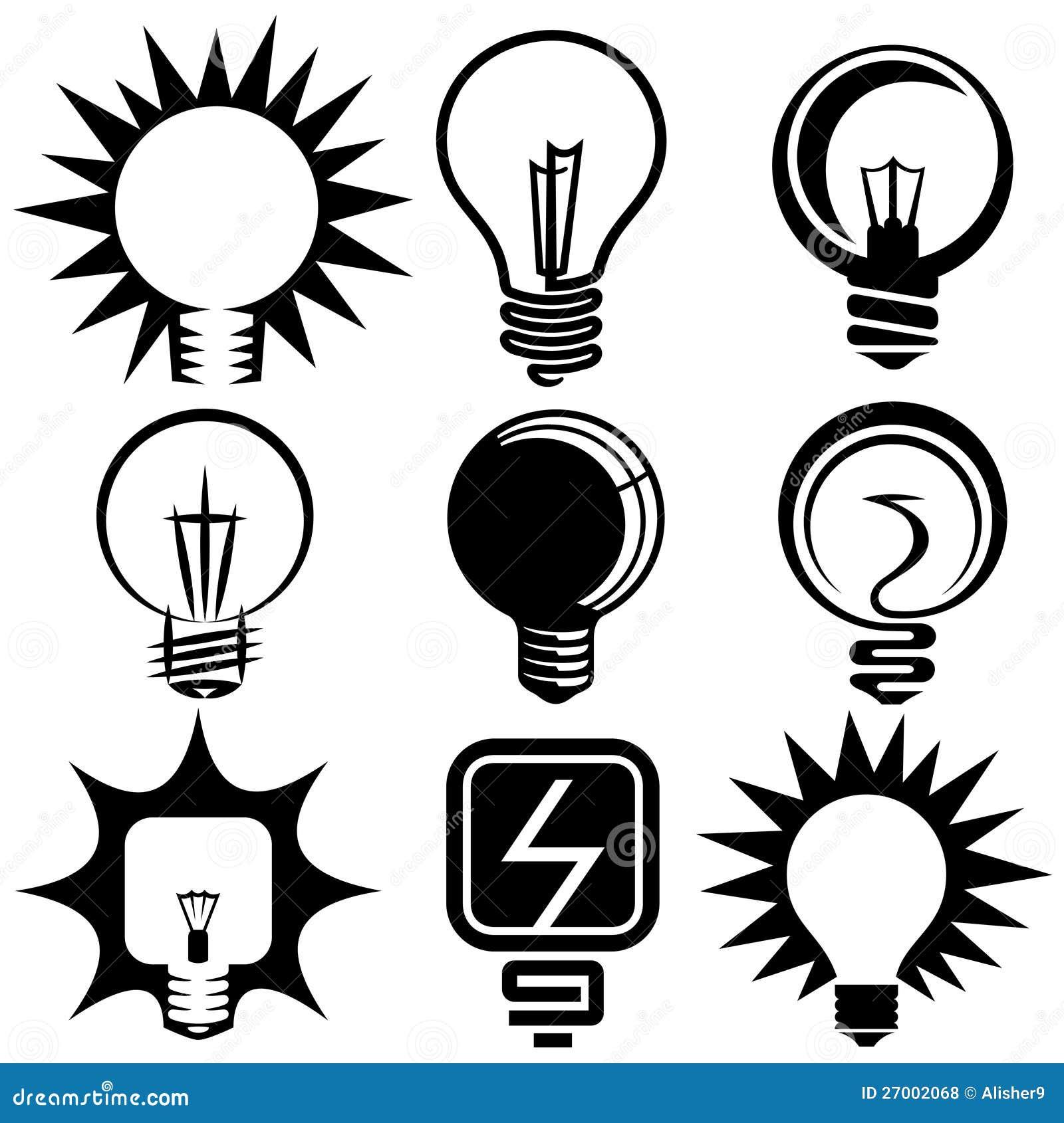 电电灯泡符号和图标