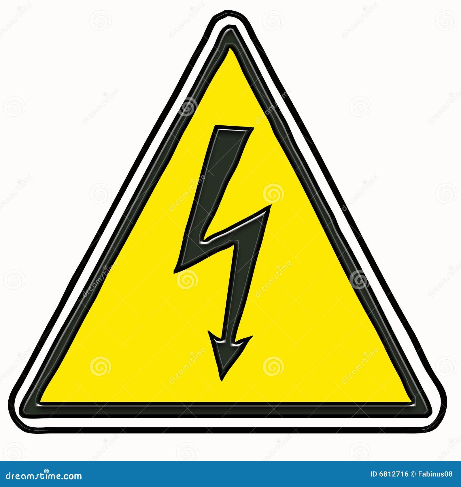 电符号警告