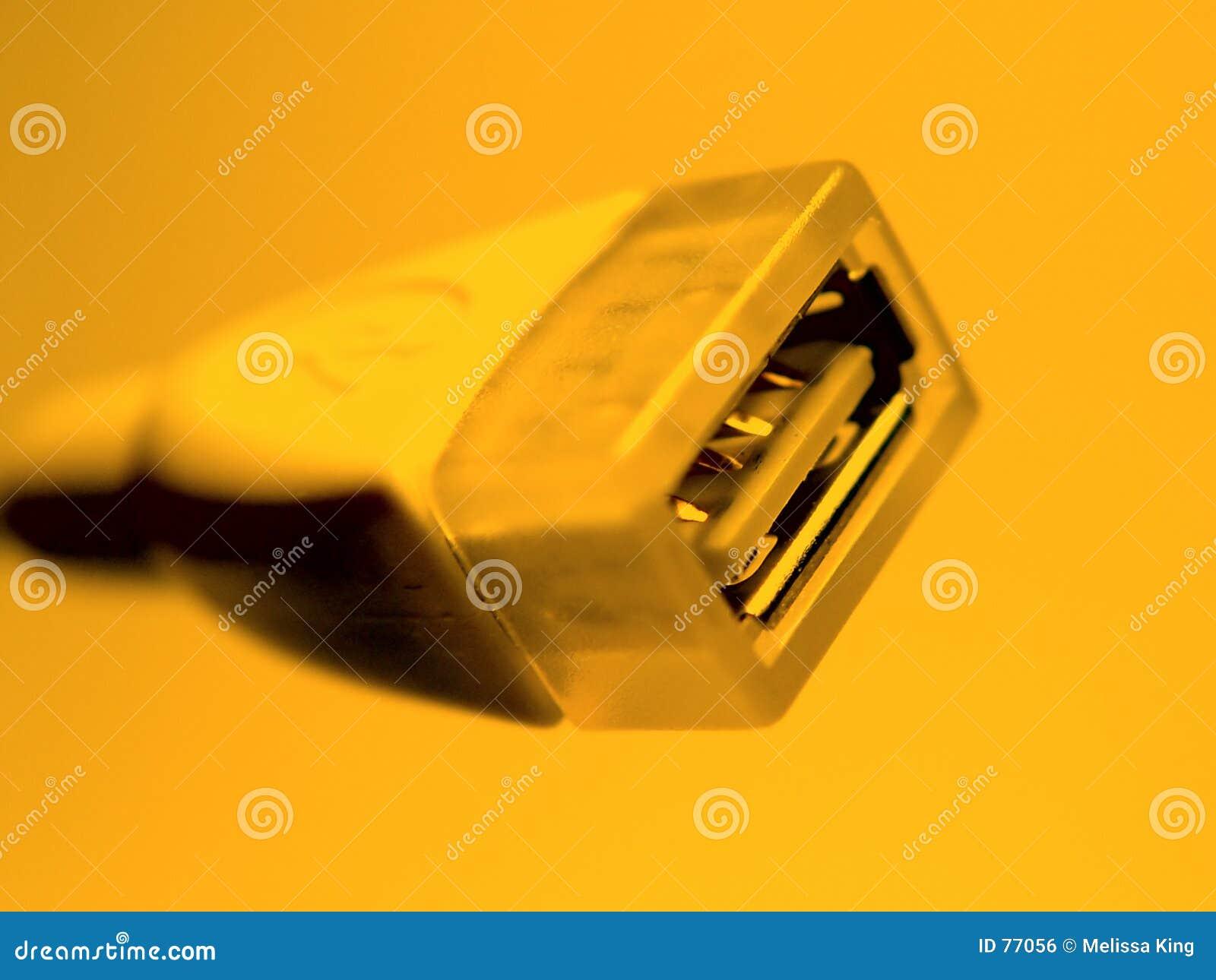电缆橙色usb
