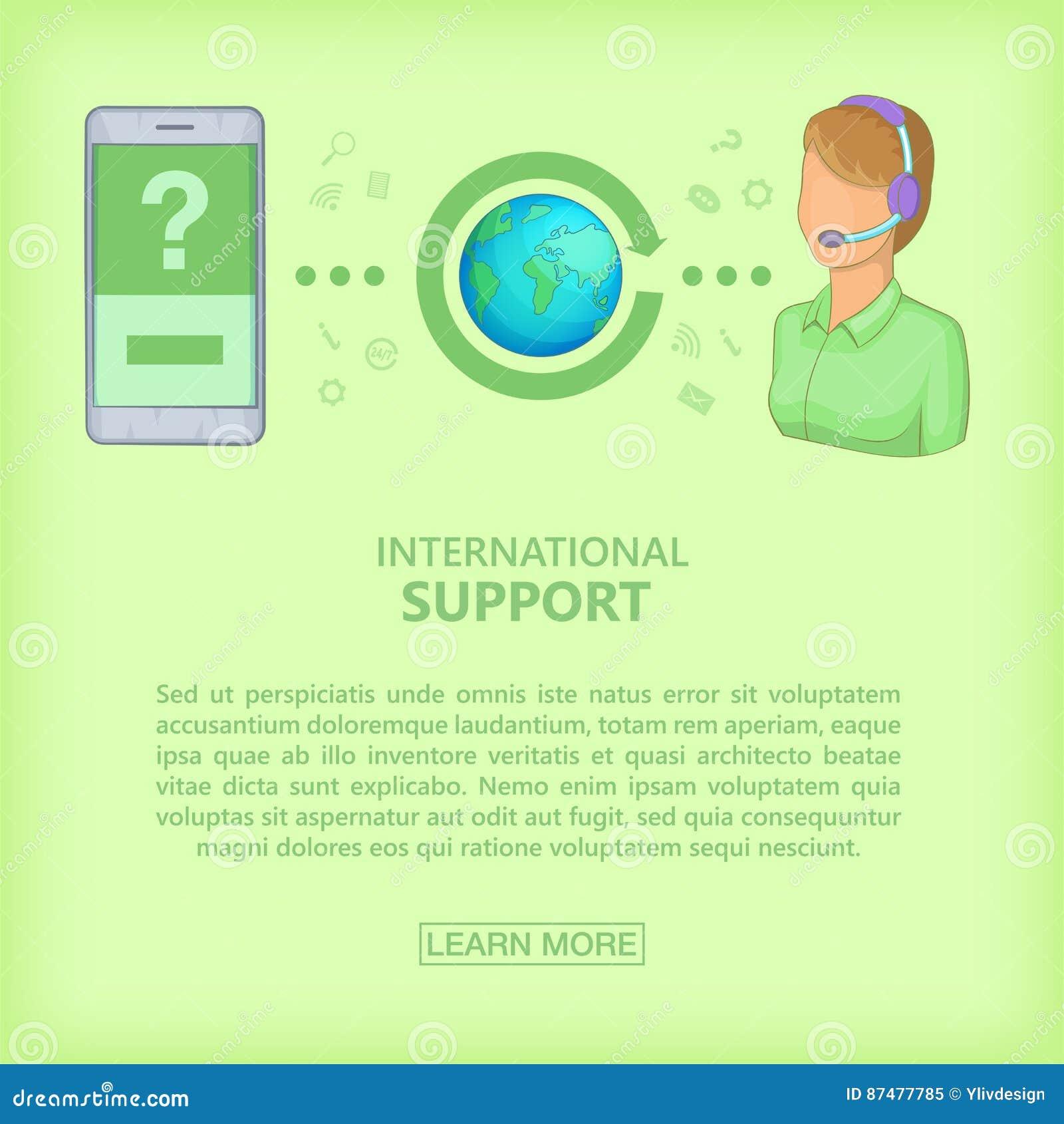 电话中心概念手机女孩,动画片样式
