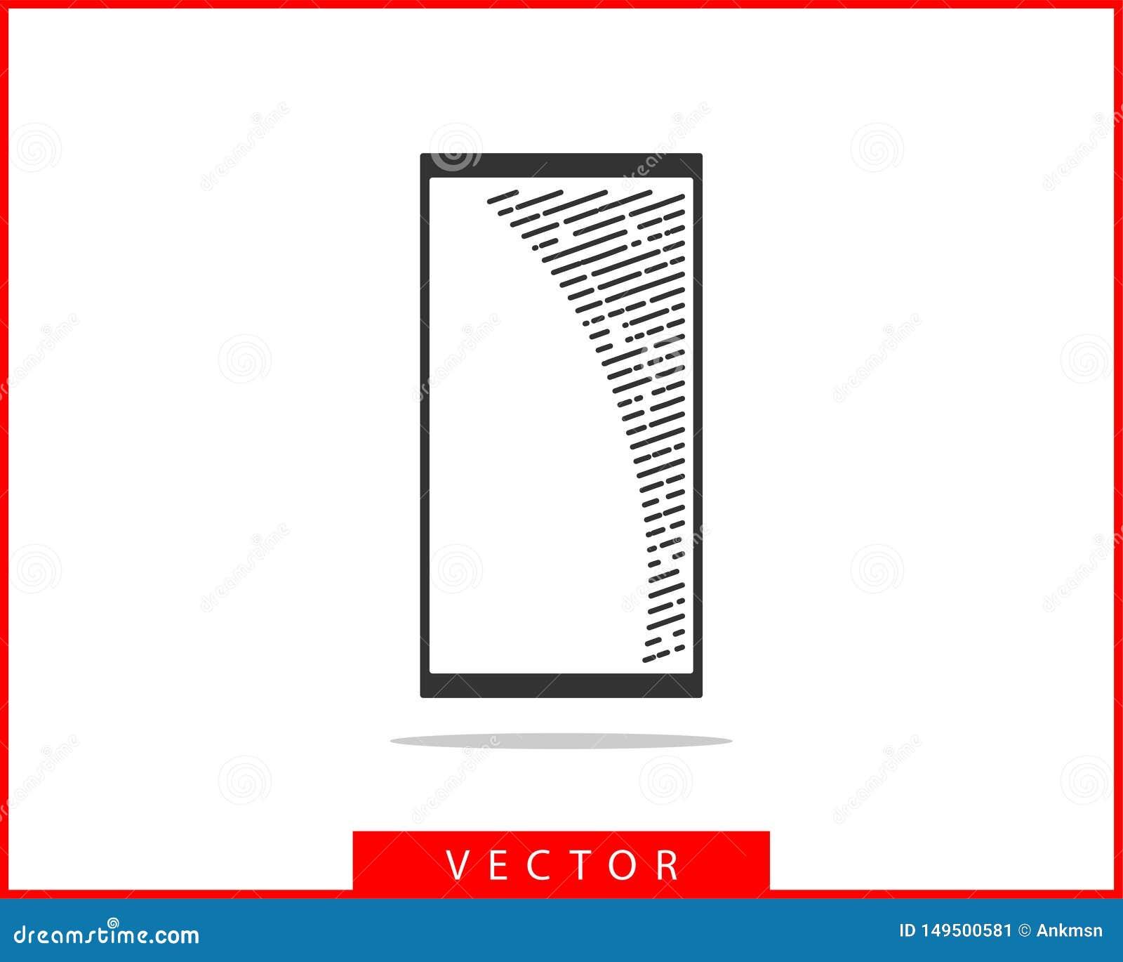 电话象传染媒介例证 电话中心应用程序 电话象时髦平的样式 与我们联系线剪影