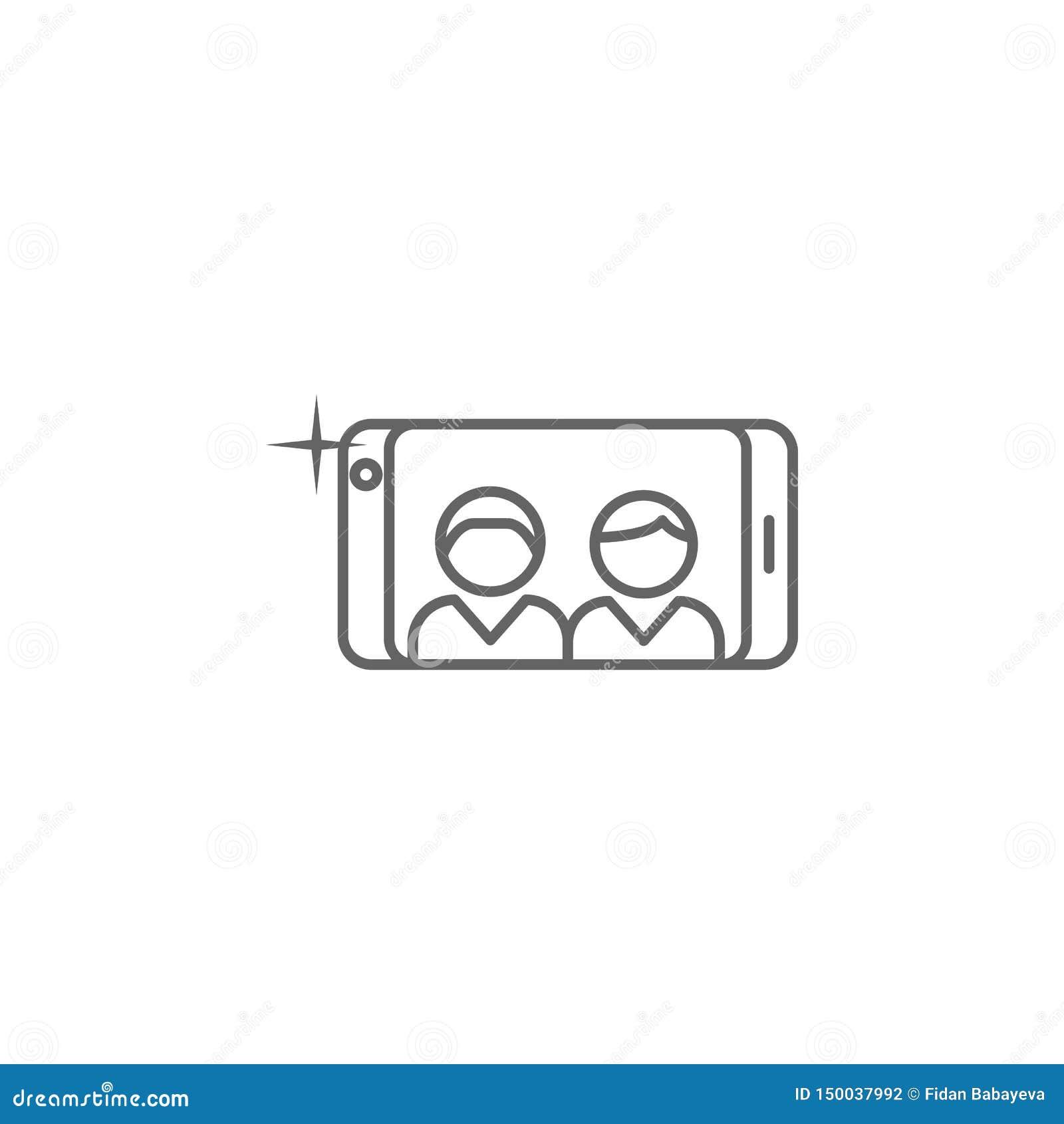 电话selfie友谊概述象 友谊线象的元素 标志、标志和传染媒介可以为网,商标使用,